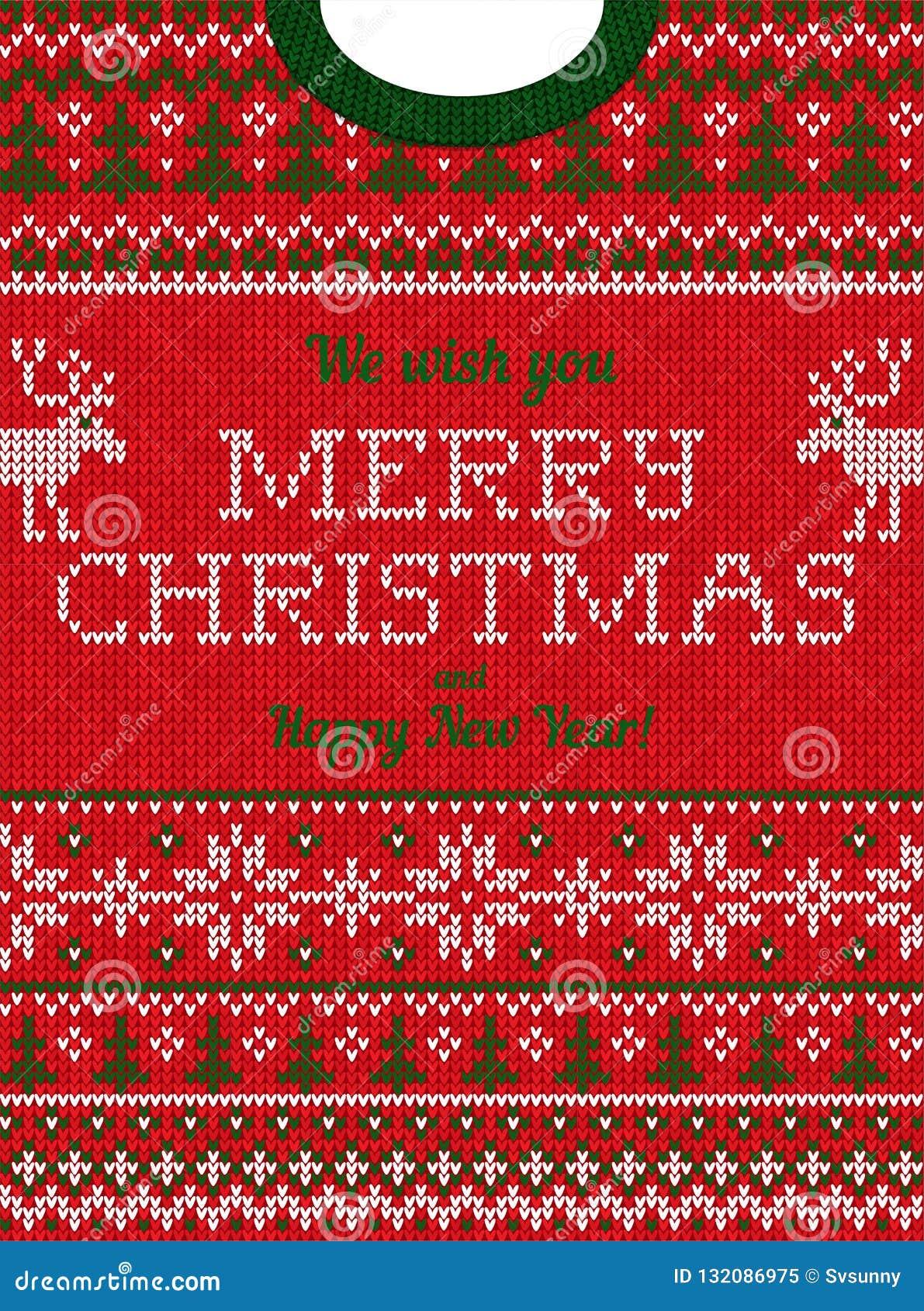 Brzydki puloweru przyjęcie gwiazdkowe zaprasza Trykotowi tło wzoru scandinavian ornamenty
