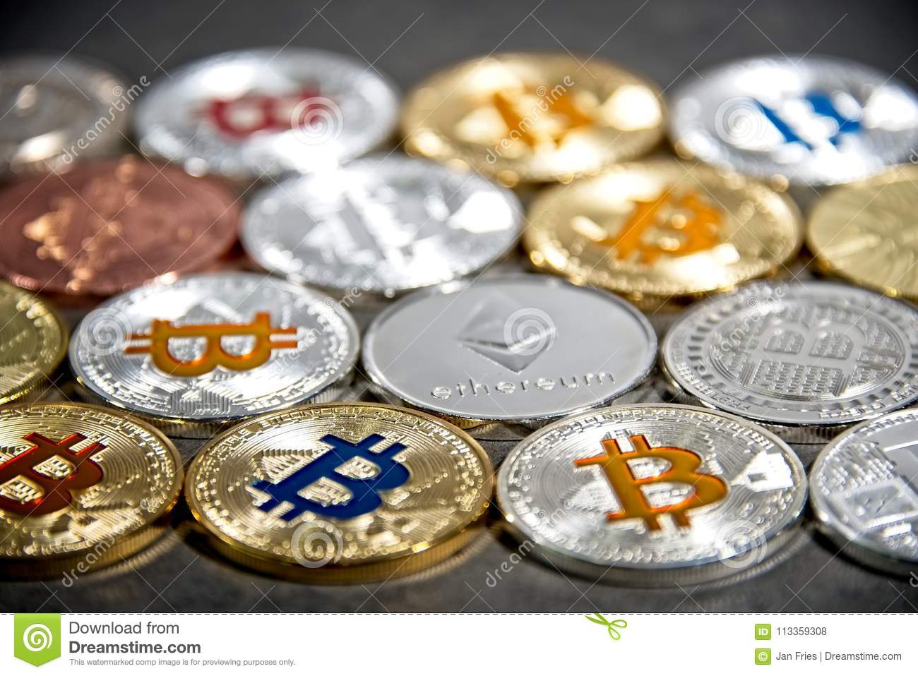 BTC and ETH, Bitcoin and Ethereum coins