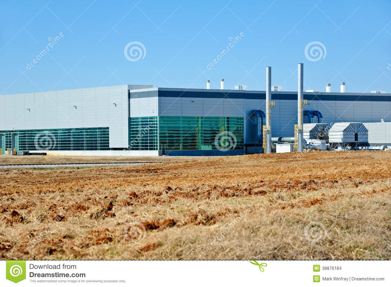 B timent industriel moderne photo stock image 38876184 - Batiment industriel moderne ...