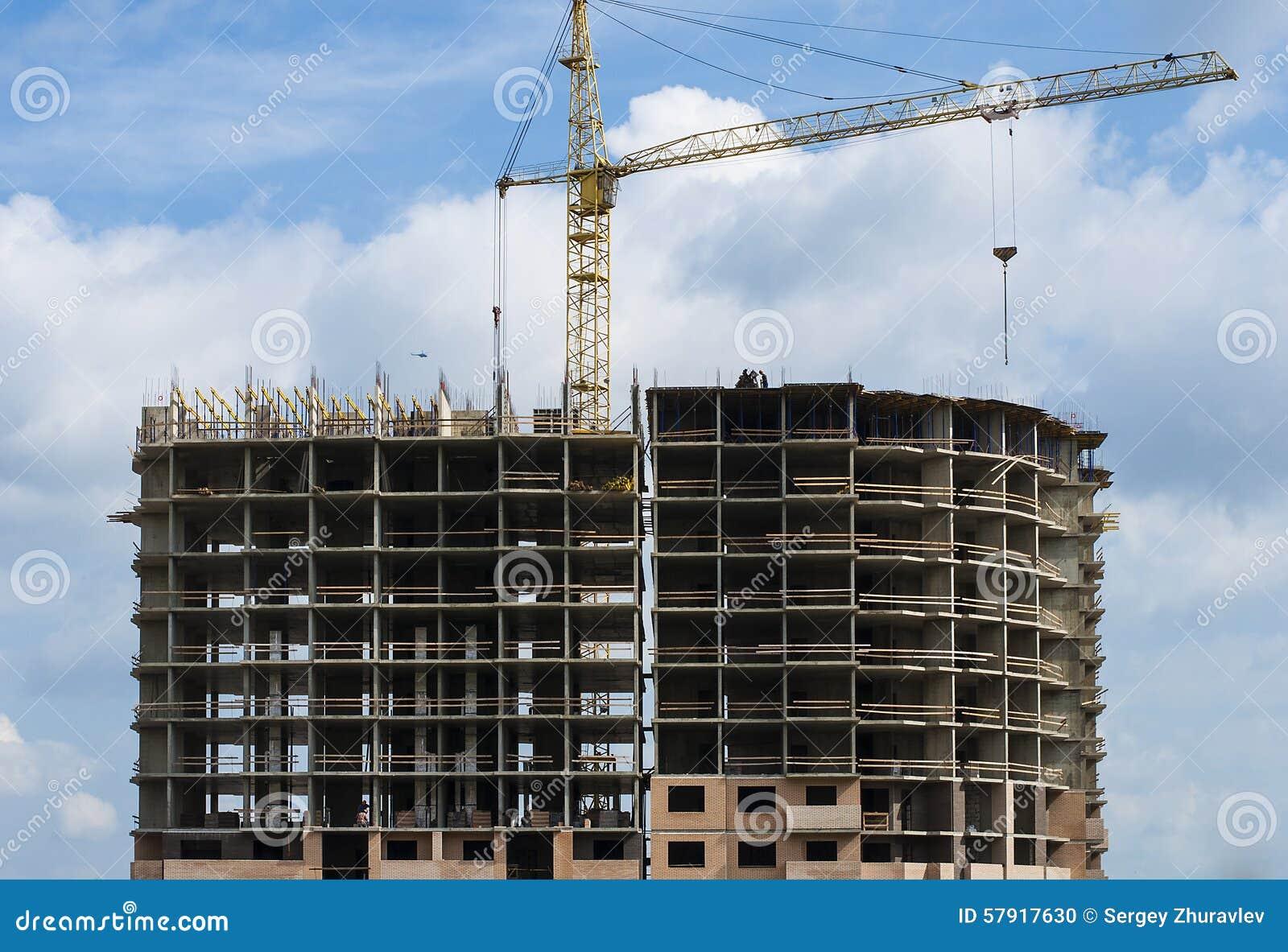 B timent r sidentiel en b ton monolithique en construction for Batiment en construction