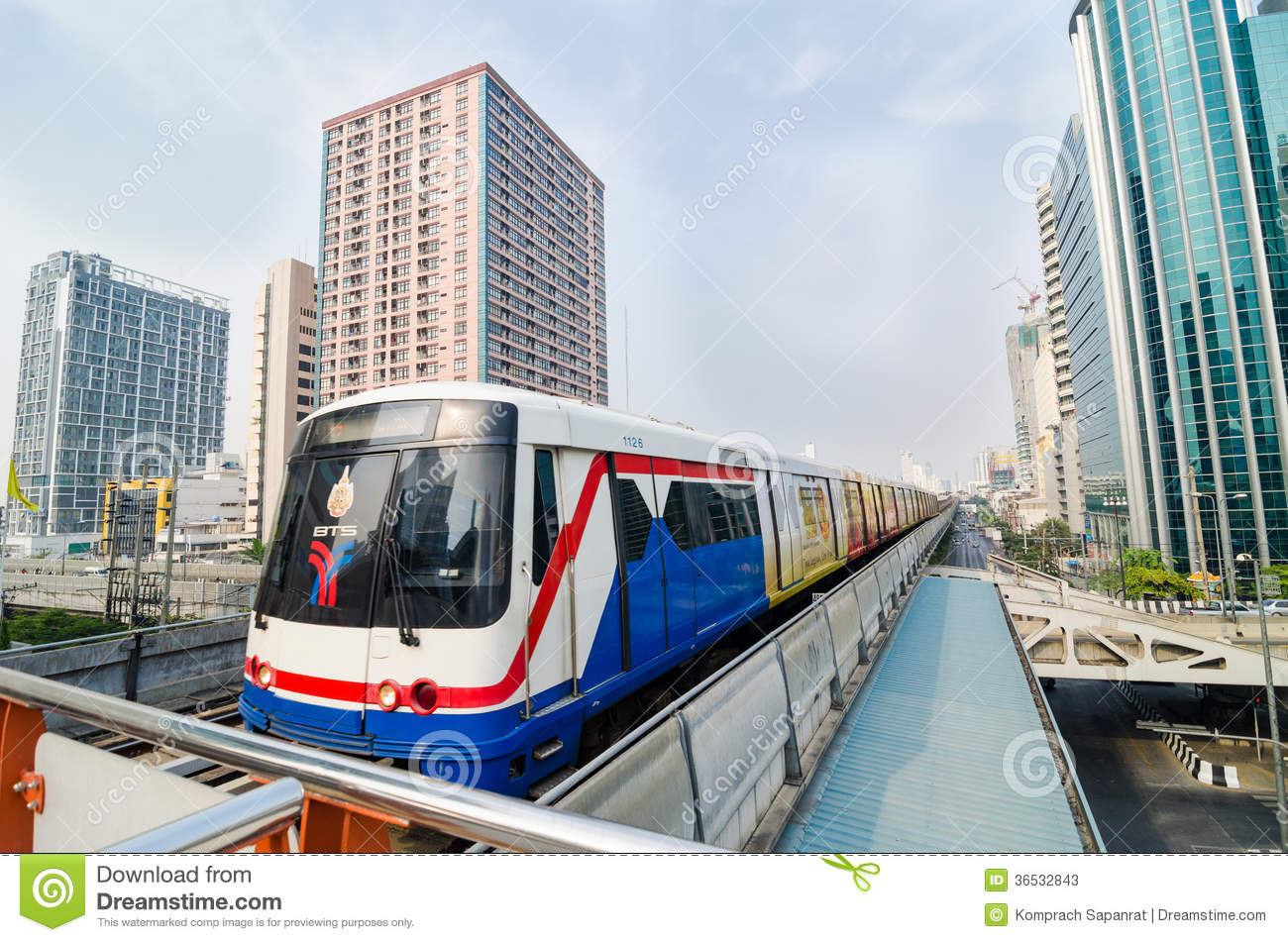 bts train of bangkok thailand  editorial stock photo