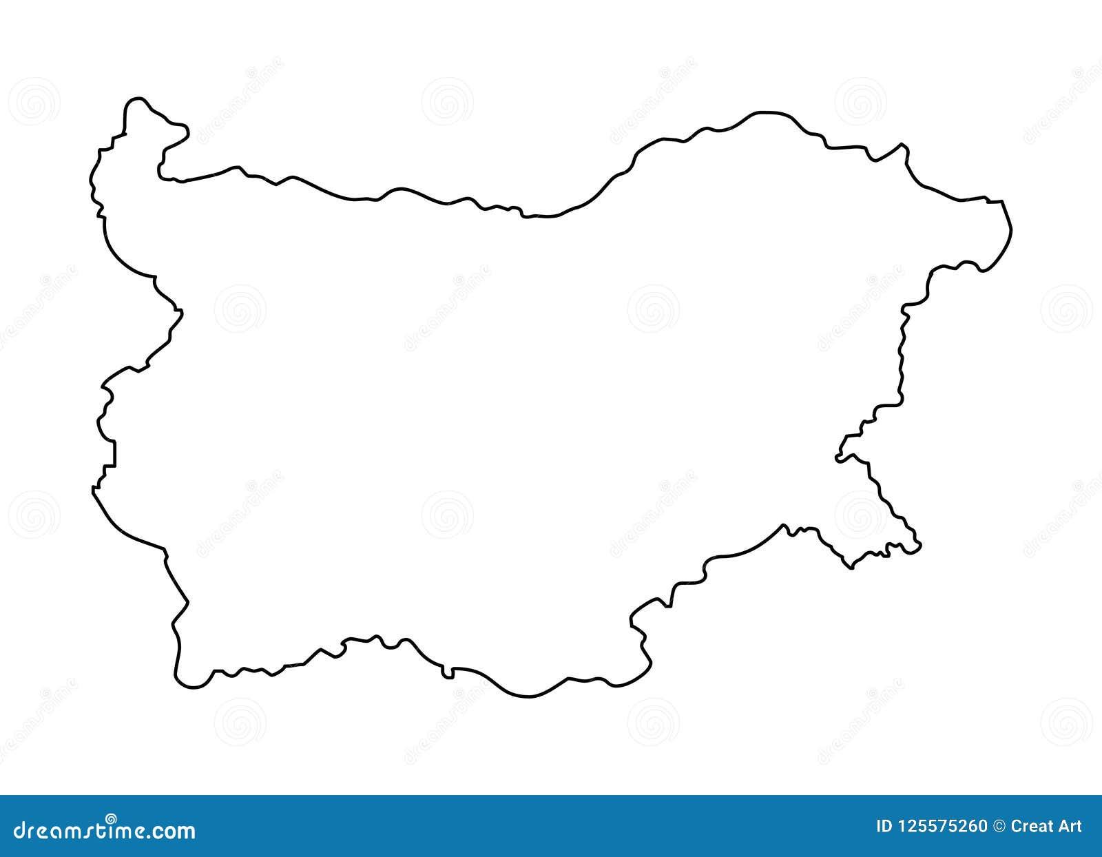 Bułgaria konturu mapy wektoru ilustracja