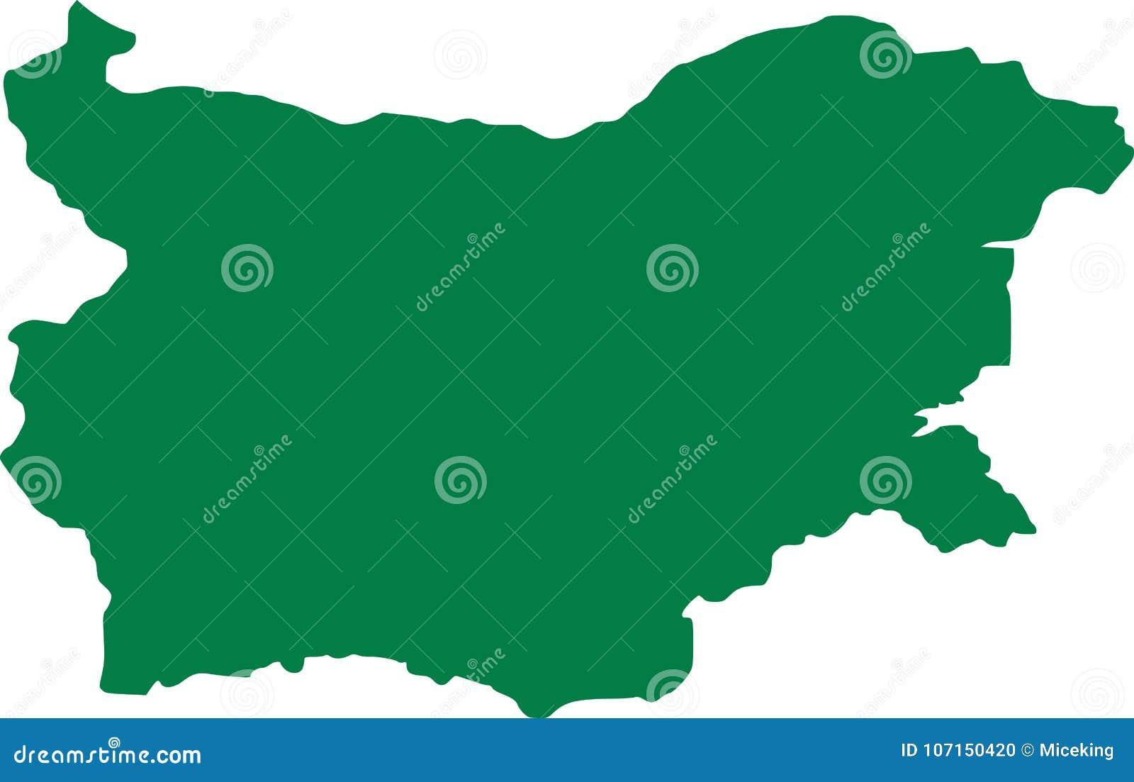 Bułgaria mapy wektor