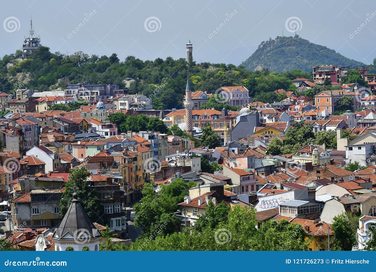 Bułgaria, Plovdiv, pejzaż miejski
