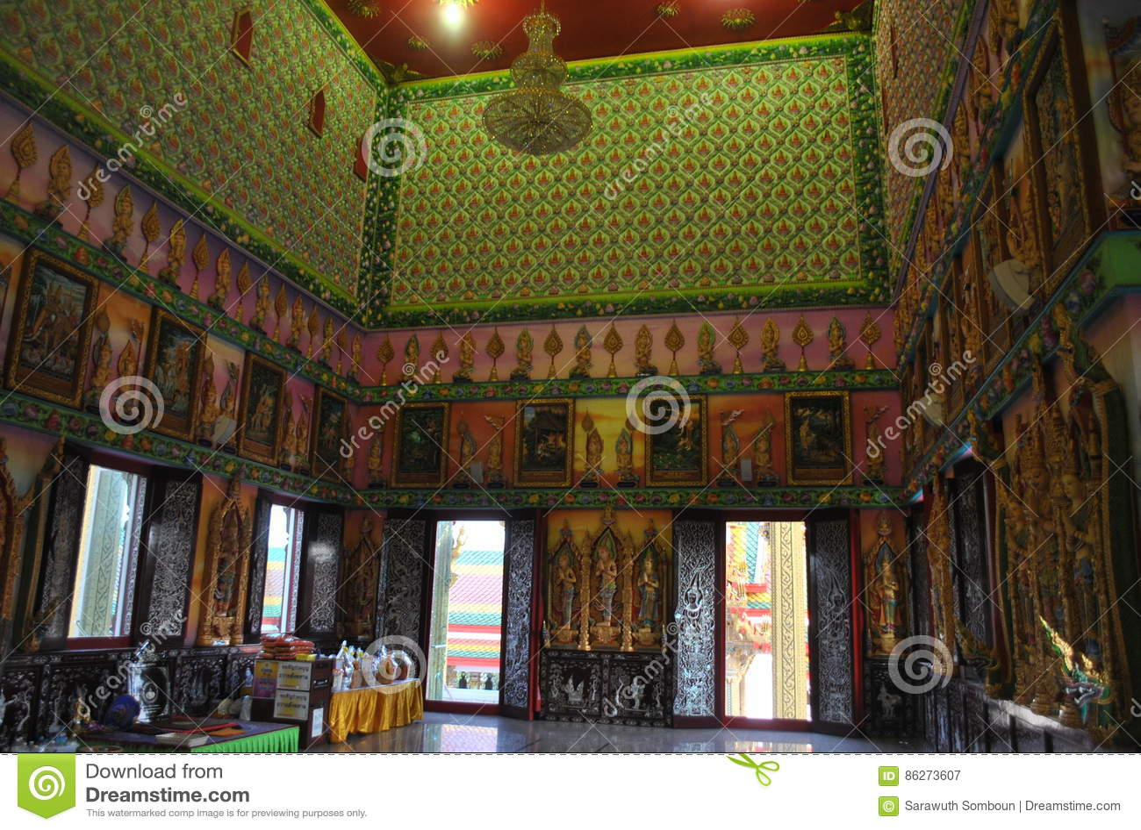 Buakwan nonthaburi Ταϊλάνδη κτηρίου διορατικότητας βουδιστικό wat