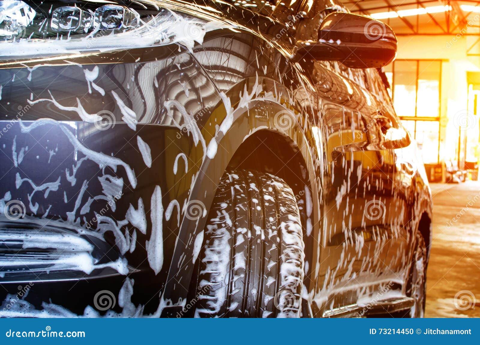 Bubblawashskum på bilen