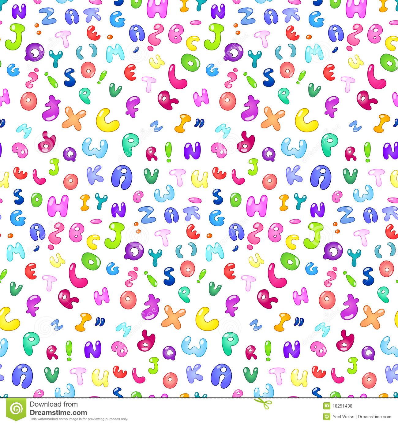 Bubble Abc Pattern Stock Vector Image Of Read Font