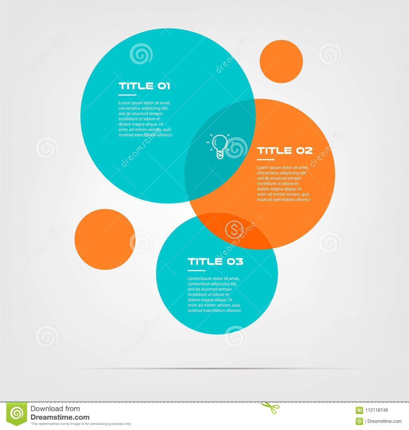 Bubble chart with elements venn diagram infographics for three download bubble chart with elements venn diagram infographics for three circle design vector and marketing can ccuart Choice Image