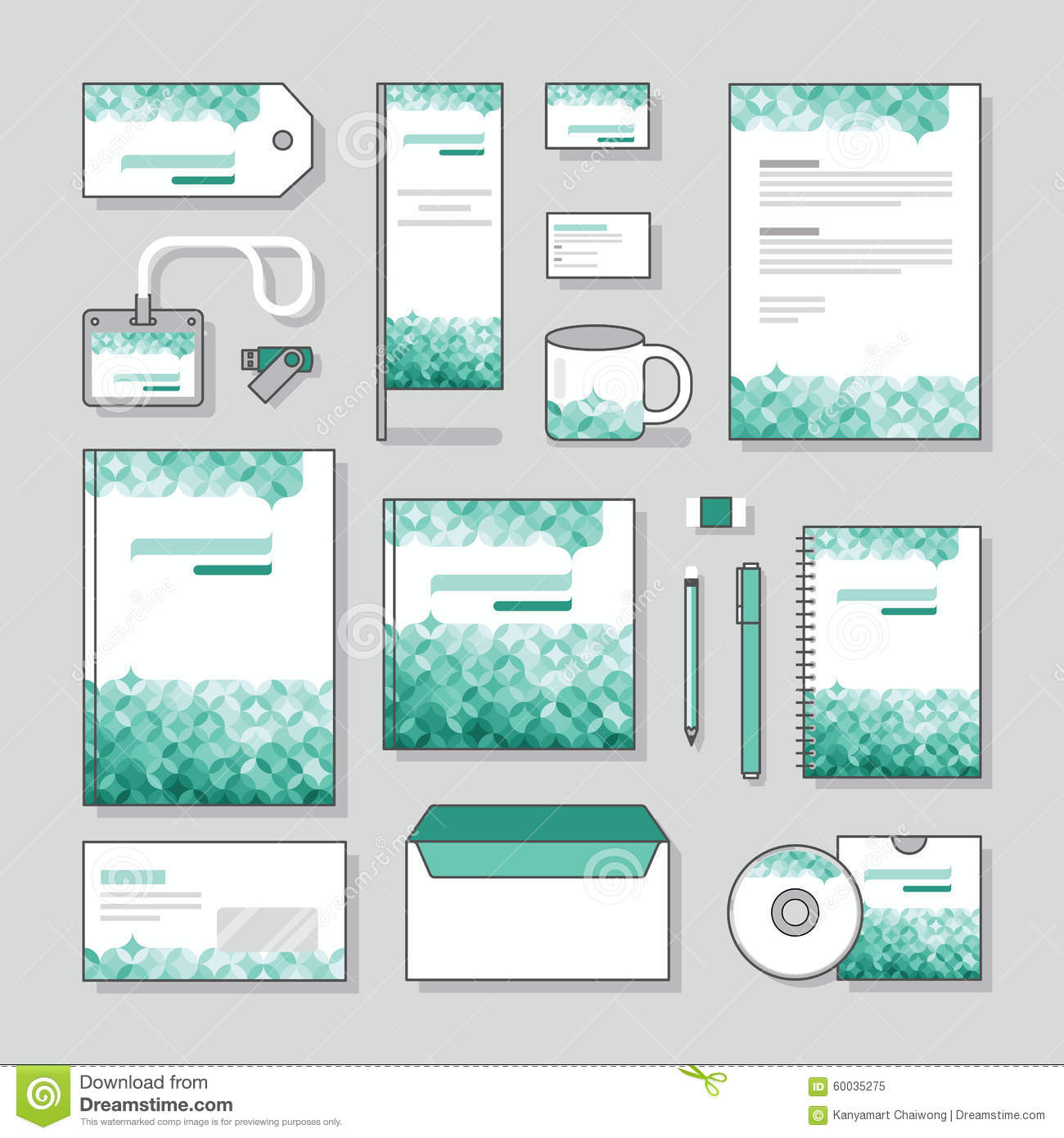 bubble design identity template stationery design set and business