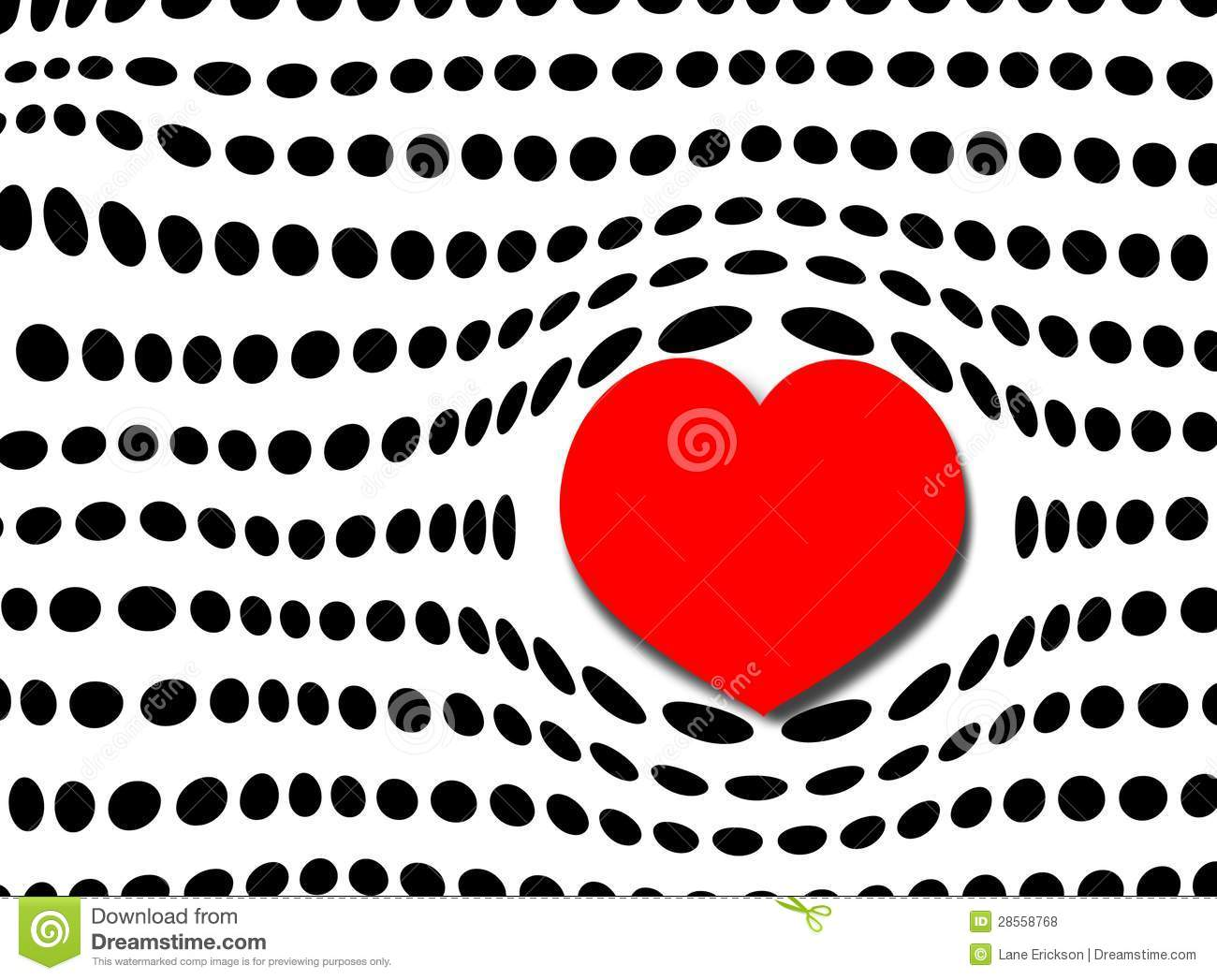 Bubble Heart And Polka Dots Stock Illustration