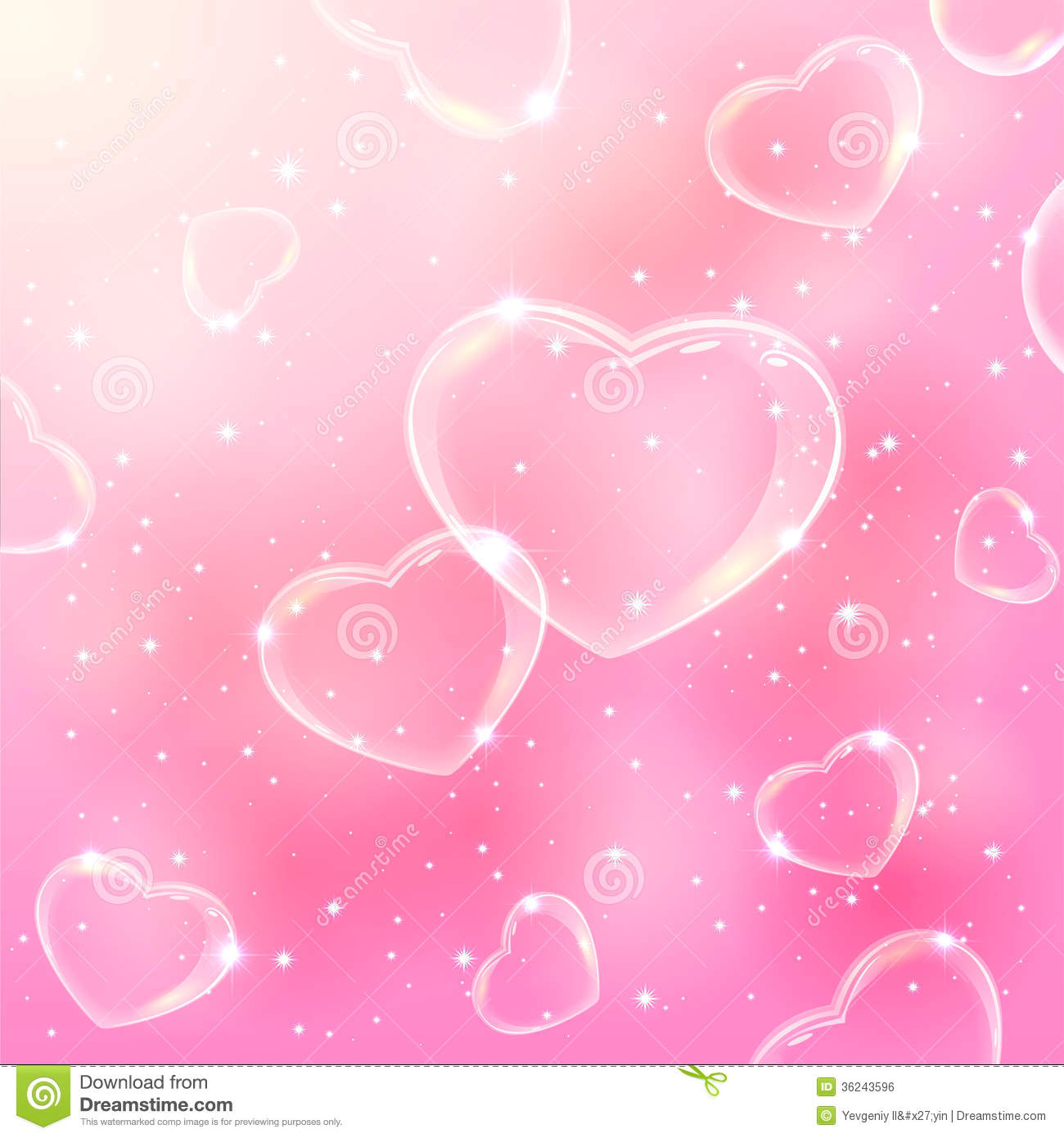 bubble hearts on pink background stock vector illustration of