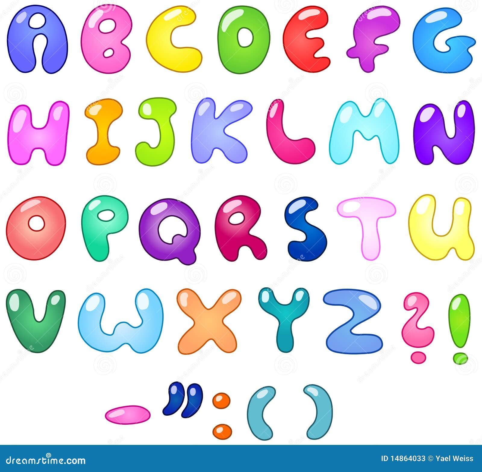 Bubble Letters Stock Photos