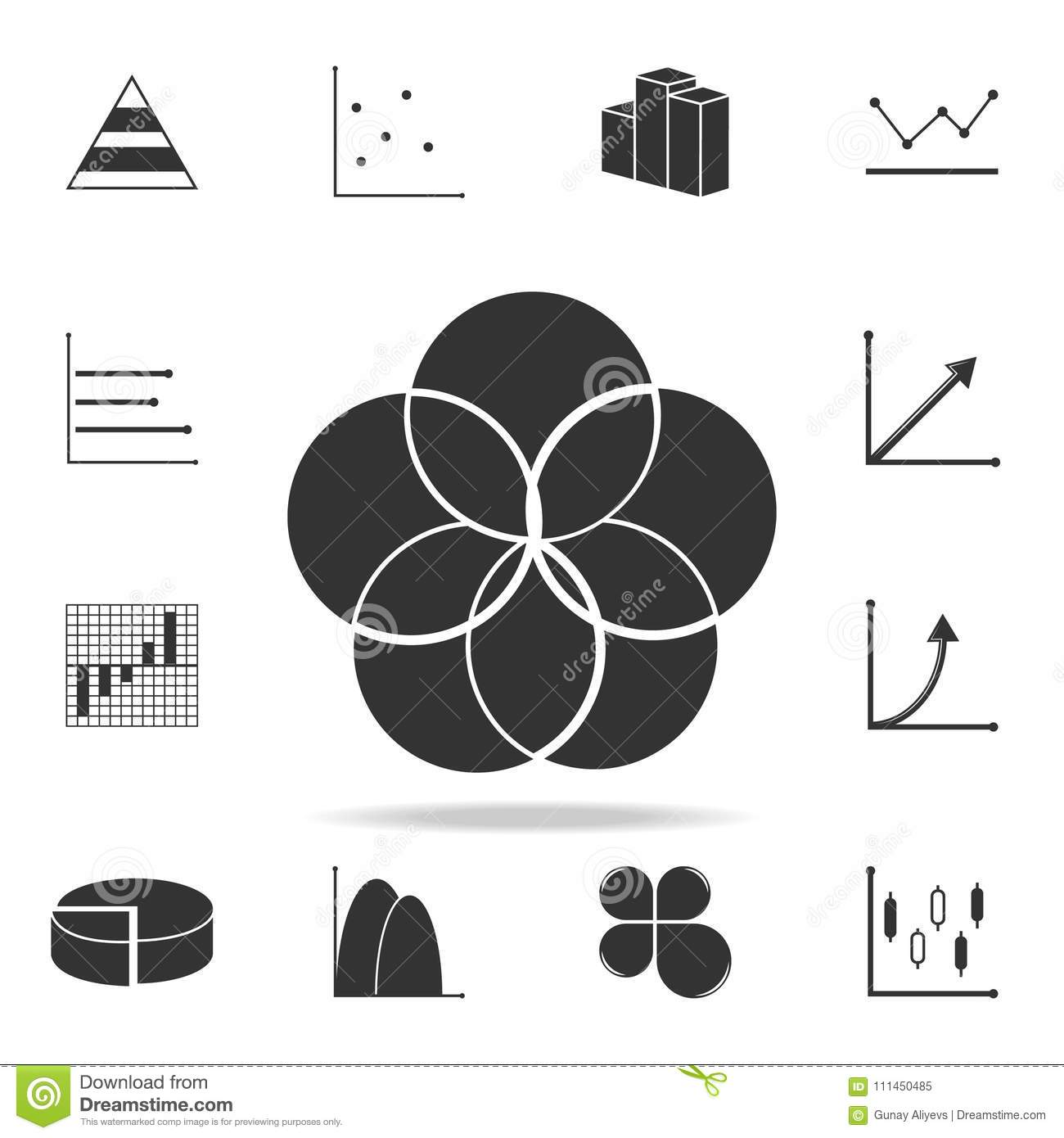 Bubble Pie Chart Icon Detailed Set Of Trend Diagram And Chart Icons