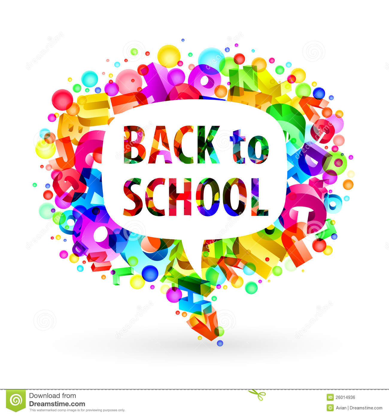 Bubble For Speech Back To School Royalty Free Stock Image