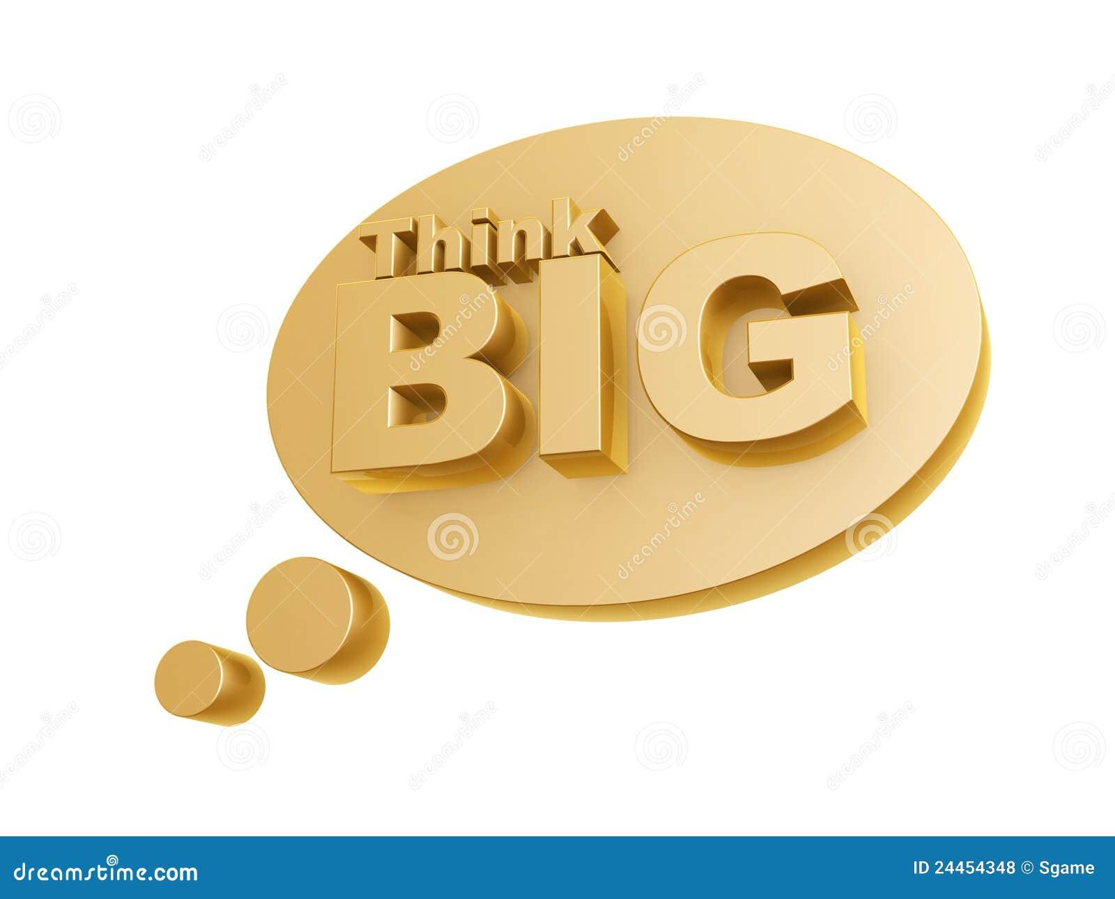 Bubble And Think Big Symbol Stock Illustration - Illustration of ...