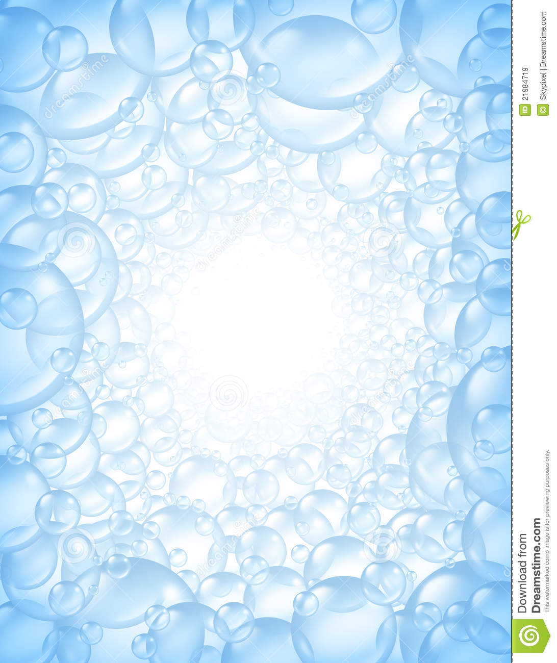 Bubbles Background In Perspective With Center Glow Royalty Free Stock ...