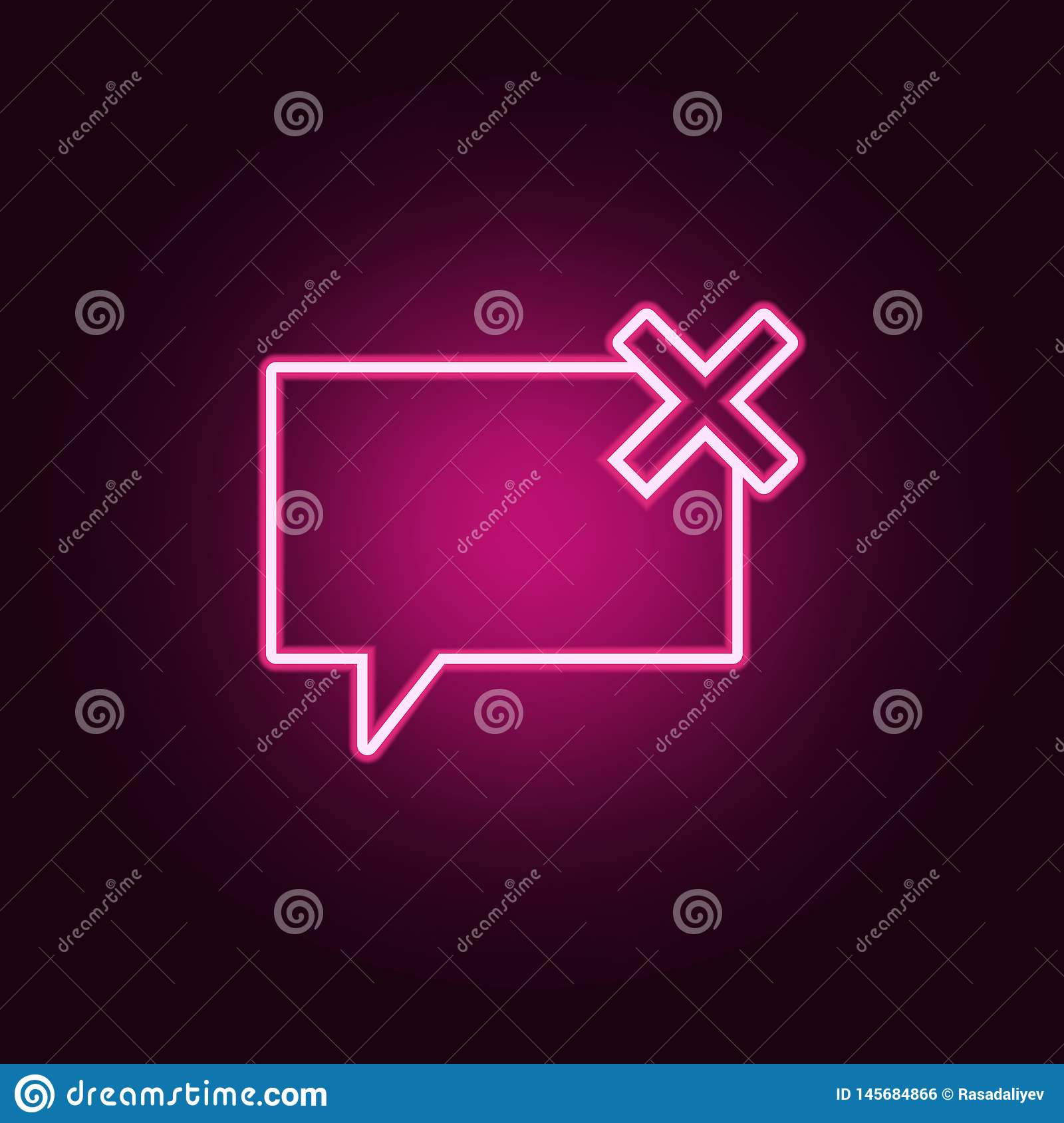 bubbles of communication with the critic icon. Elements of Web in neon style icons. Simple icon for websites, web design, mobile