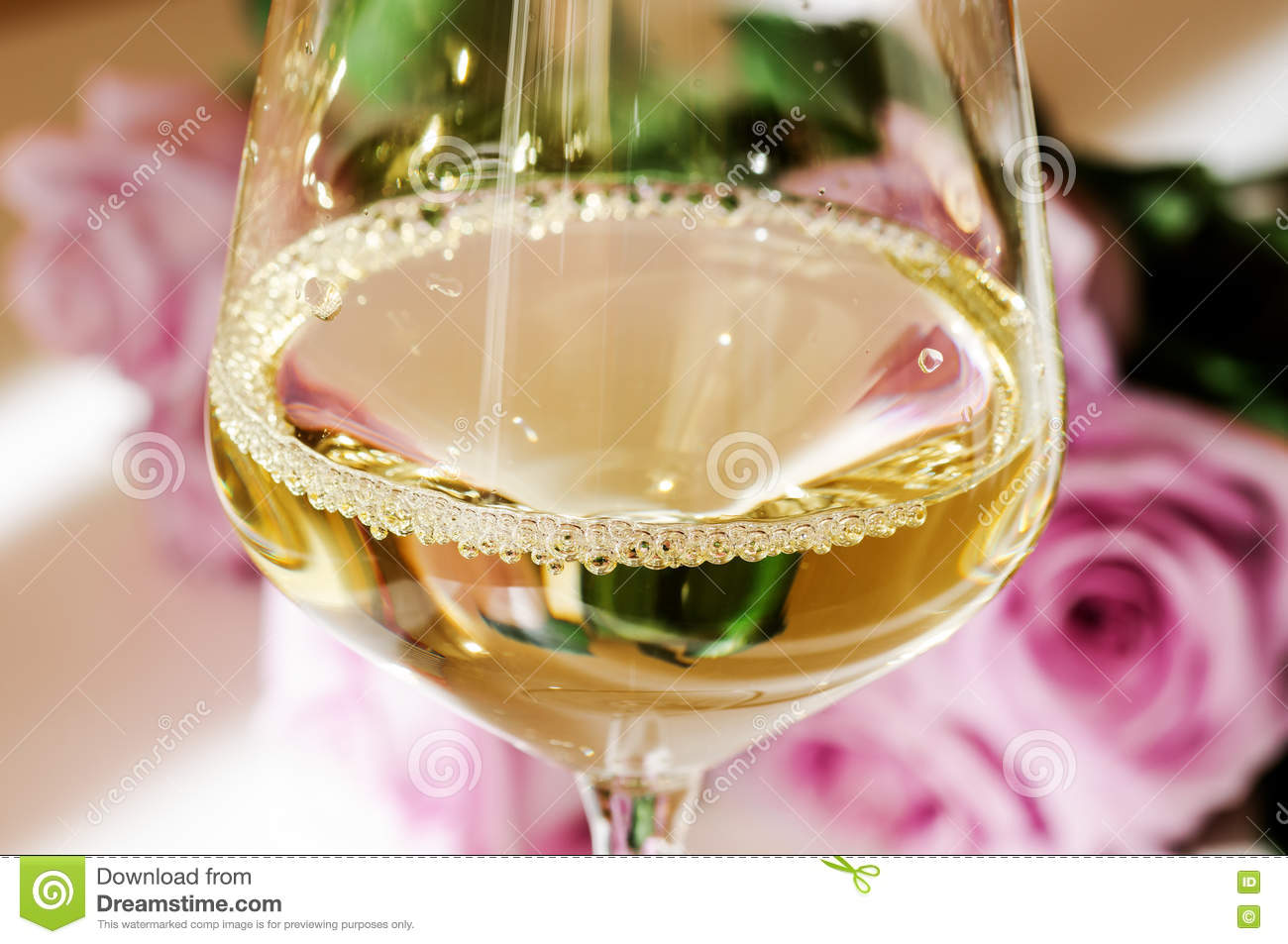 Bubbles in a glass of white wine stock image image of background bubbles in a glass of white wine flowers background mightylinksfo