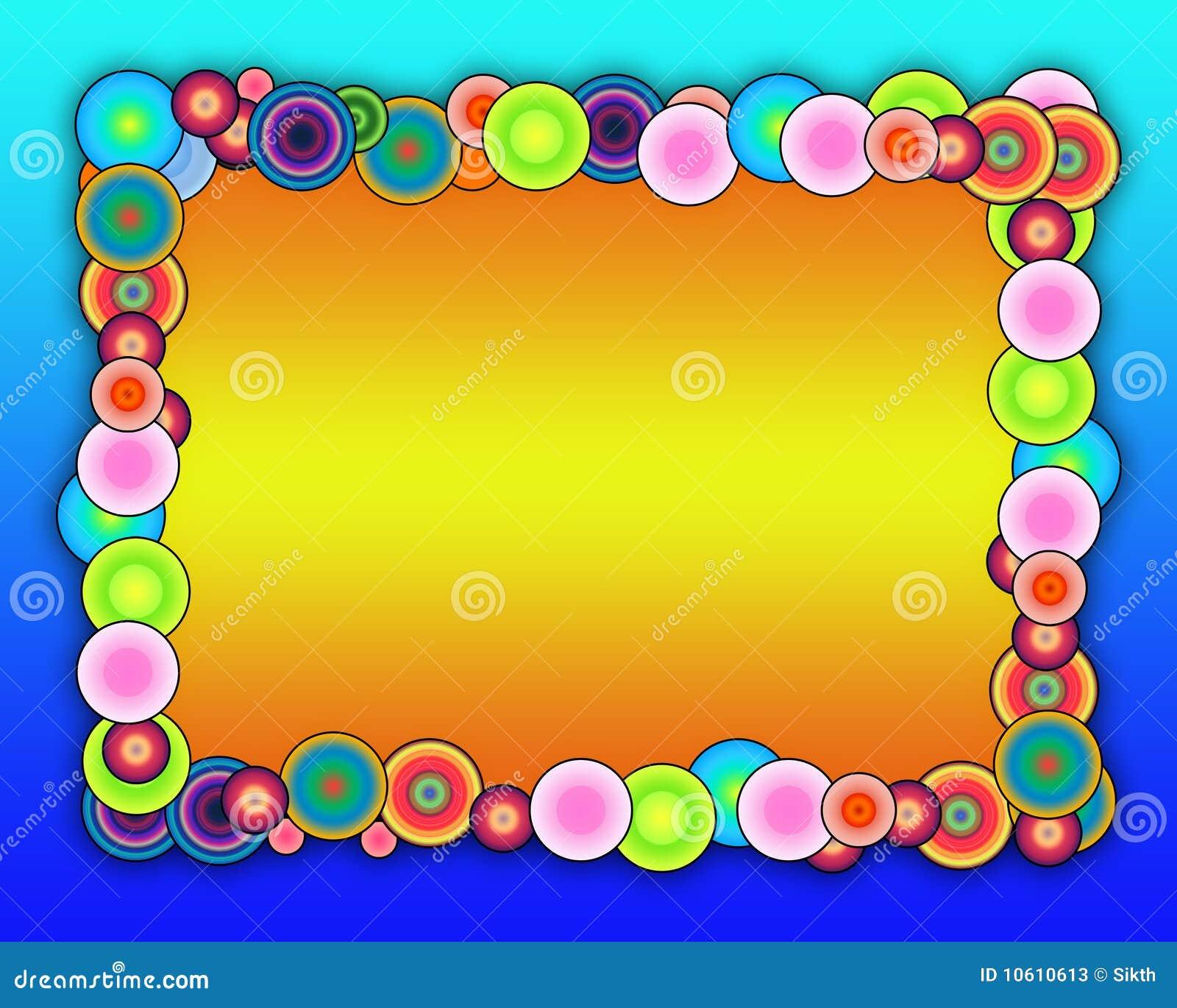 Bubbly Frame stock illustration. Illustration of decorative - 10610613