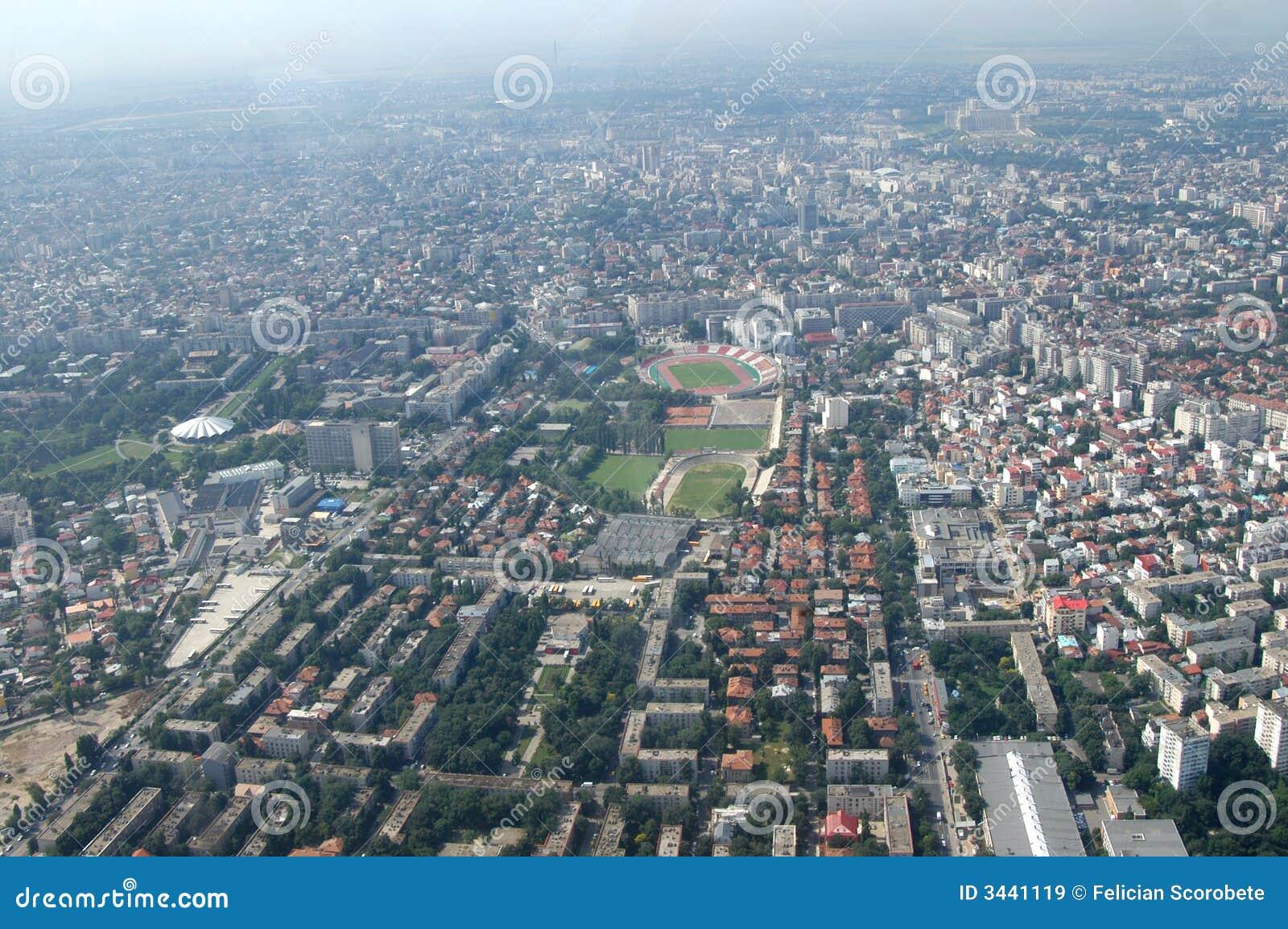 Bucarest, vue aérienne