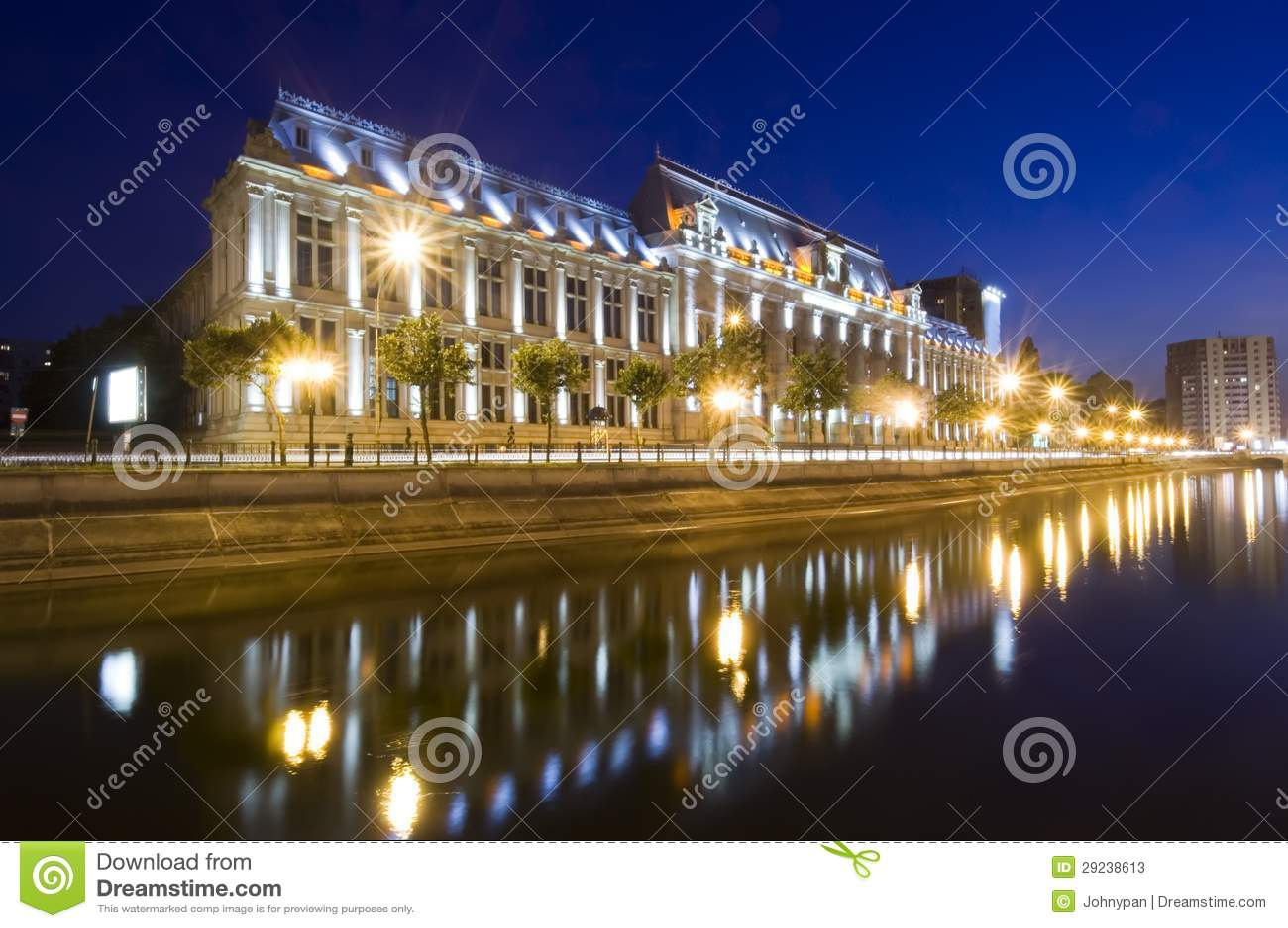 Download Bucareste na noite imagem de stock. Imagem de romania - 29238613