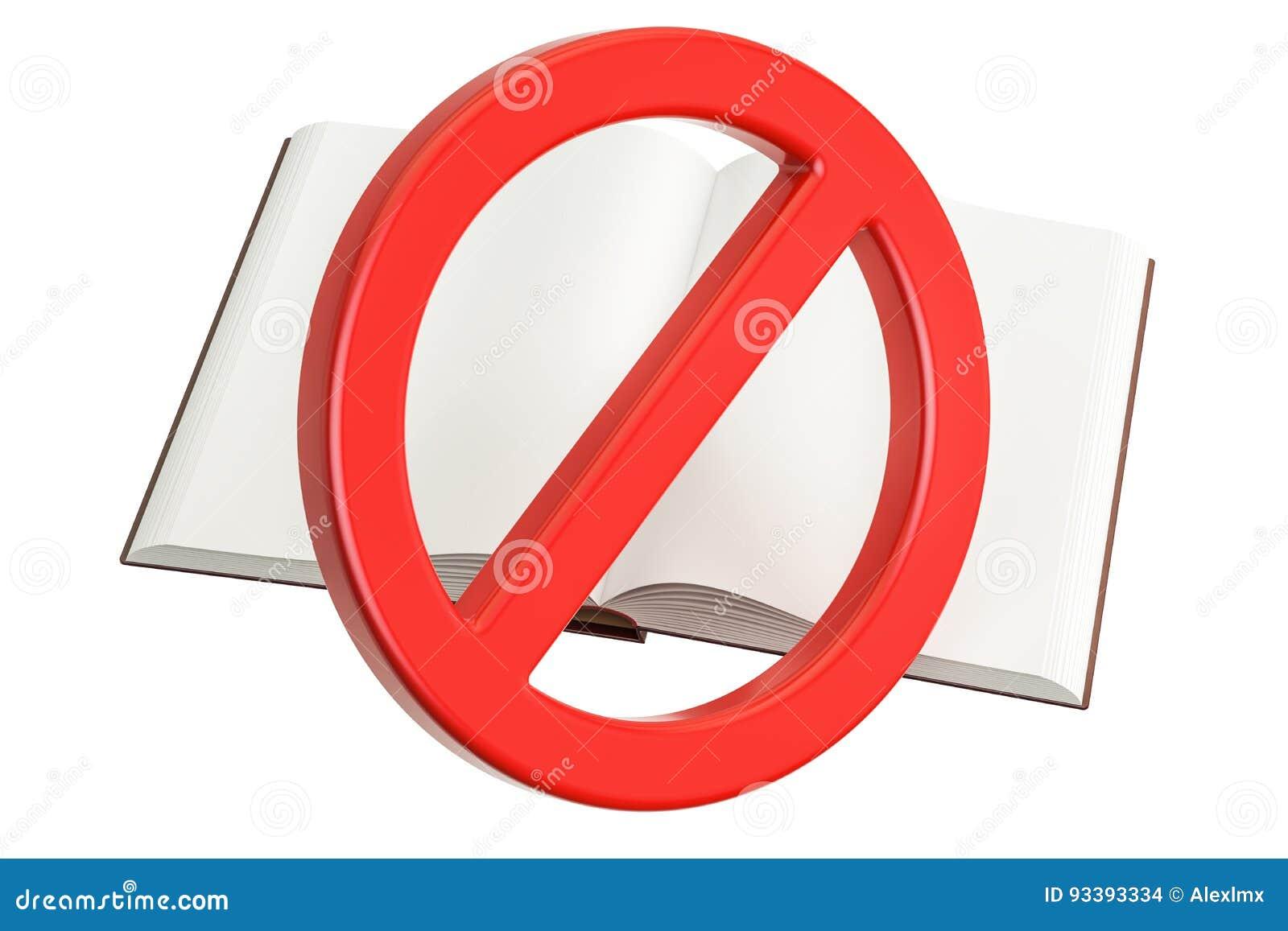 Buch mit verboten, Verbotszeichen
