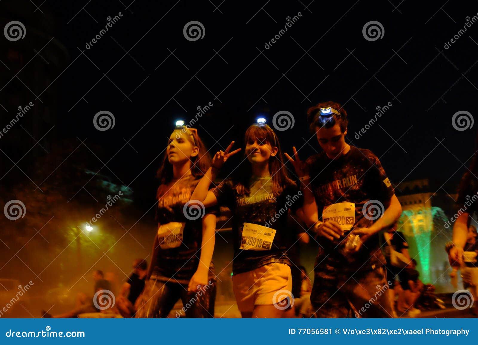 Bucharest Color Run Night