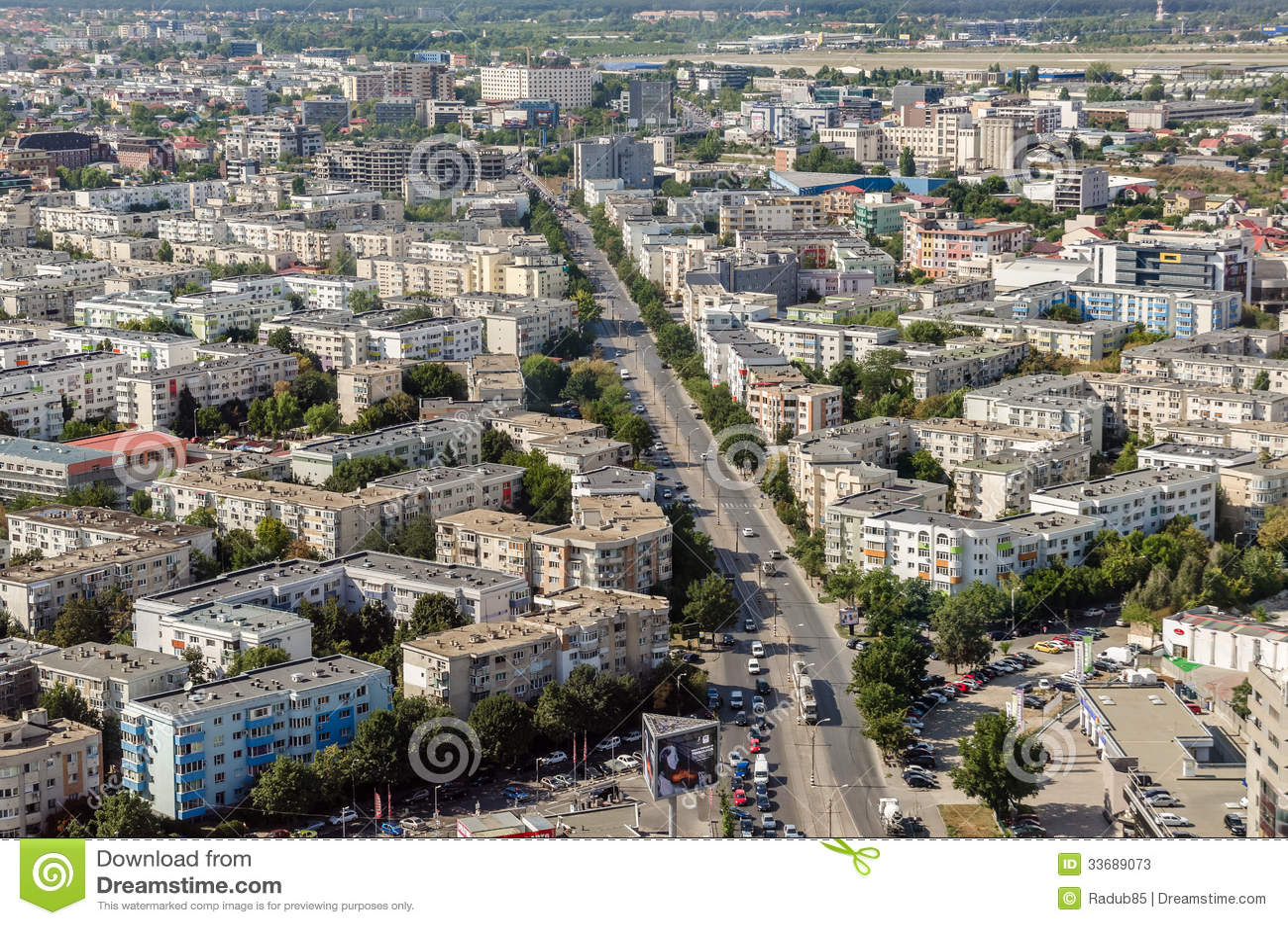 Bucharest flyg- sikt