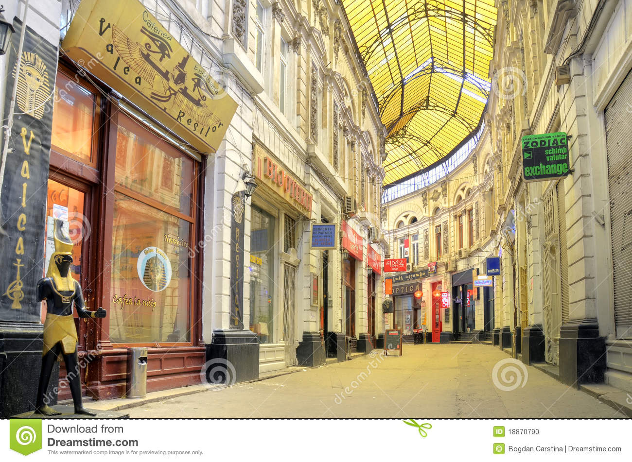 Bucharest Glass Covered Street Editorial Image Image