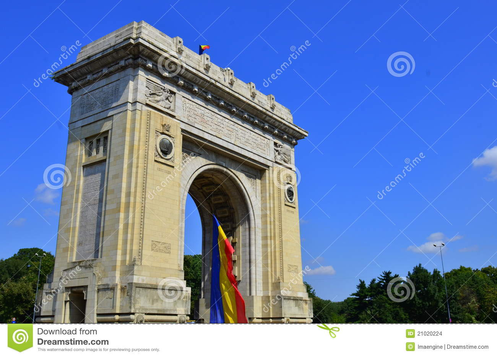 Bucharest historisk landmark - triumfbågen