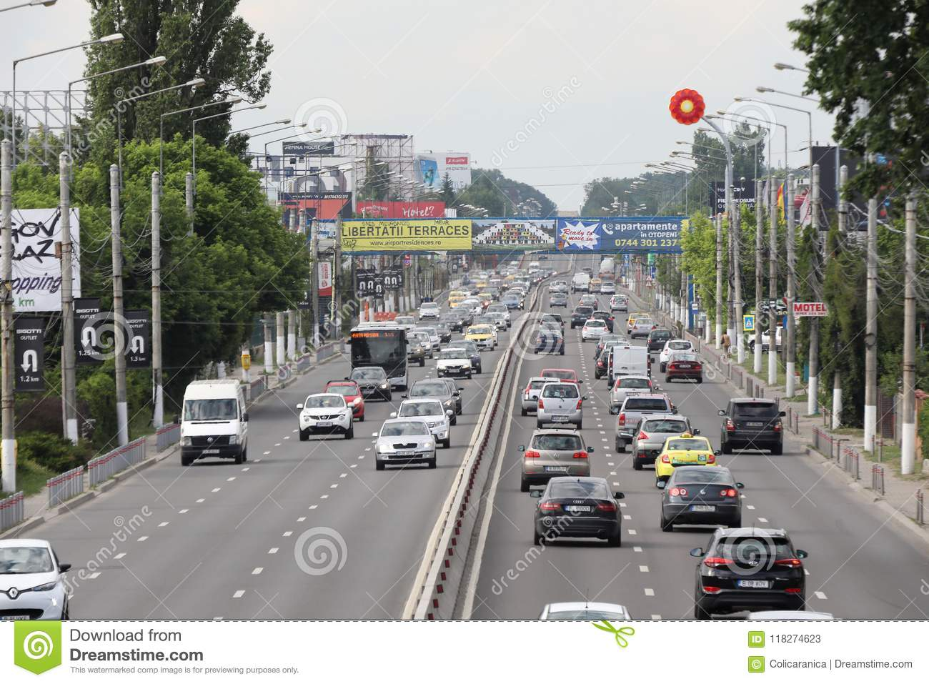 Bucharest national road seen from above