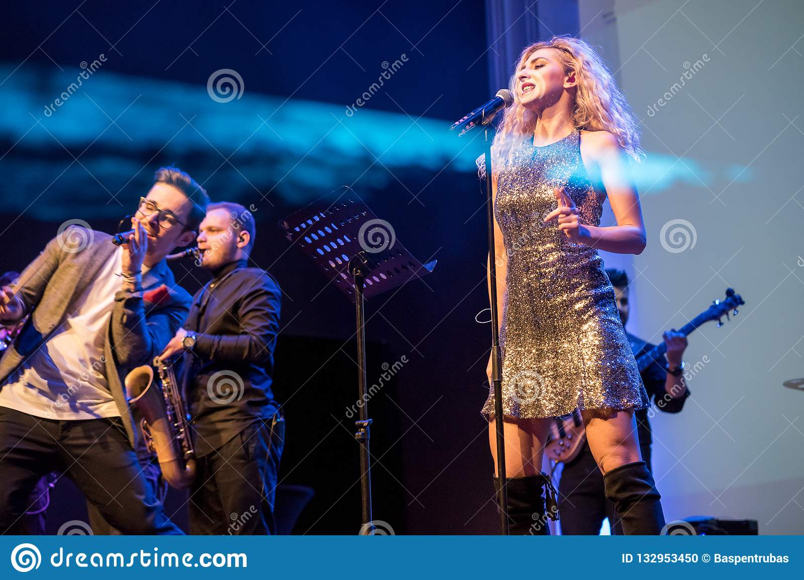Band live concert editorial image  Image of romania - 132953450