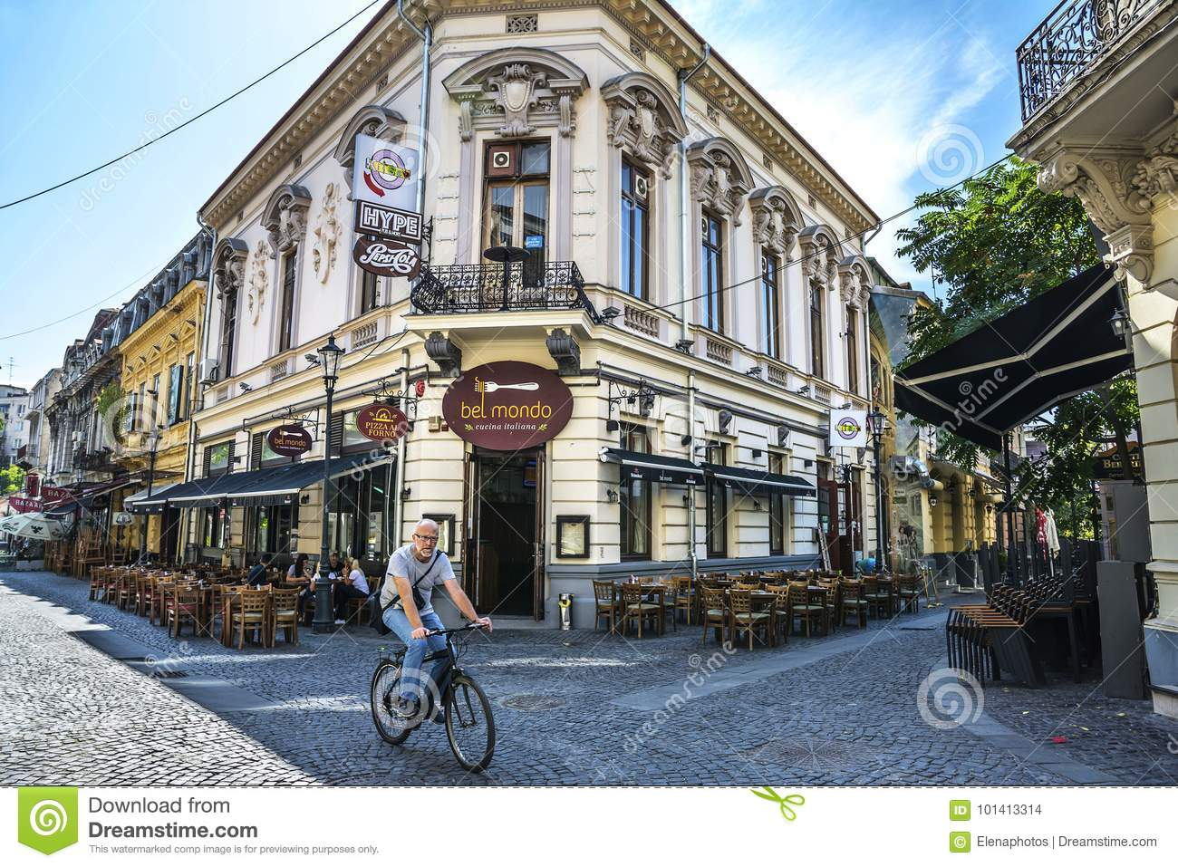 Bucharest Town Editorial Image Image Of Bucharest: Old Town Of Bucharest, Lipscani District Editorial Stock