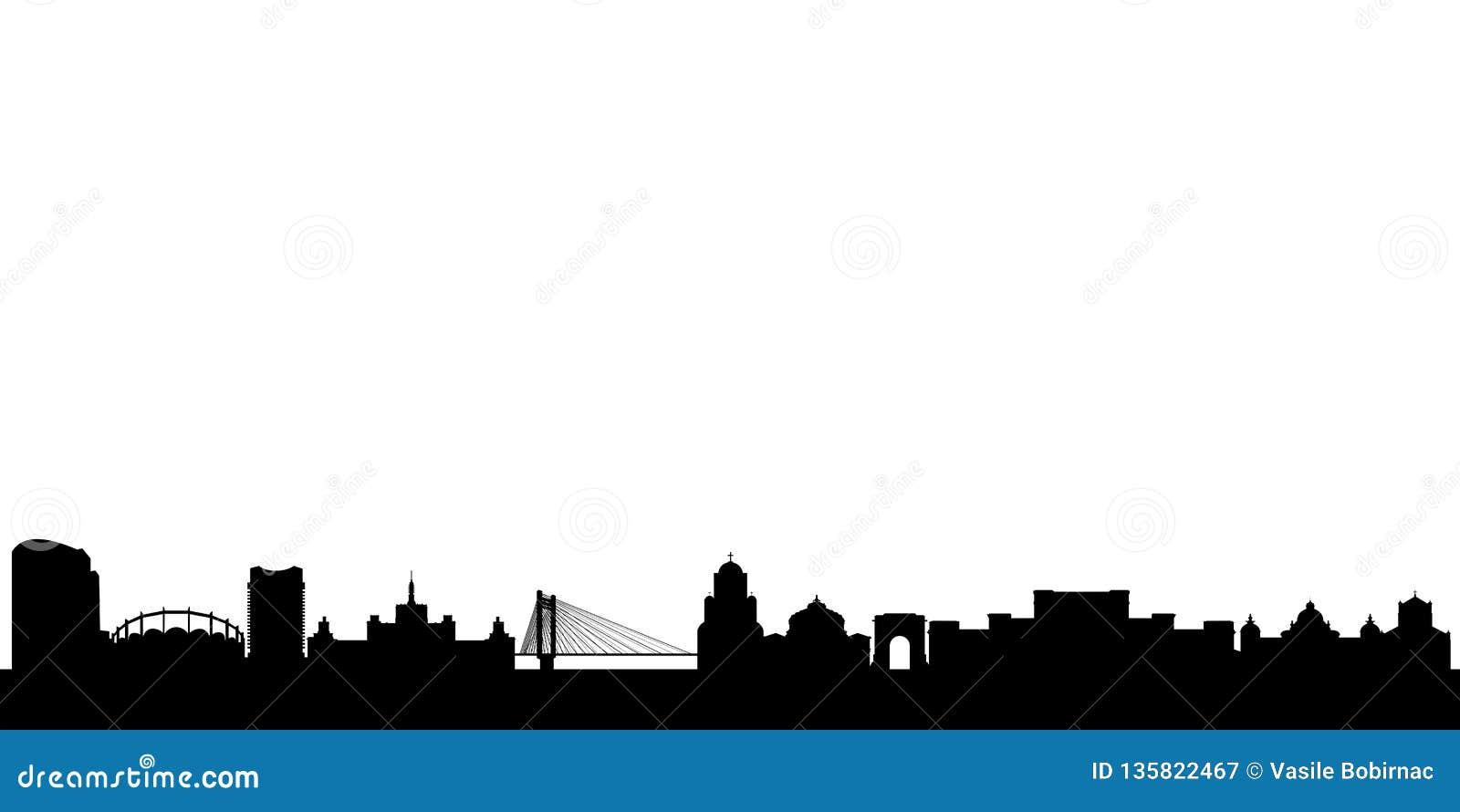 Bucharest Skyline with Monuments