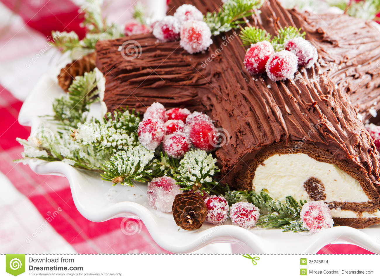 buche de noel cake stock photo image of cupcake case 36245824. Black Bedroom Furniture Sets. Home Design Ideas