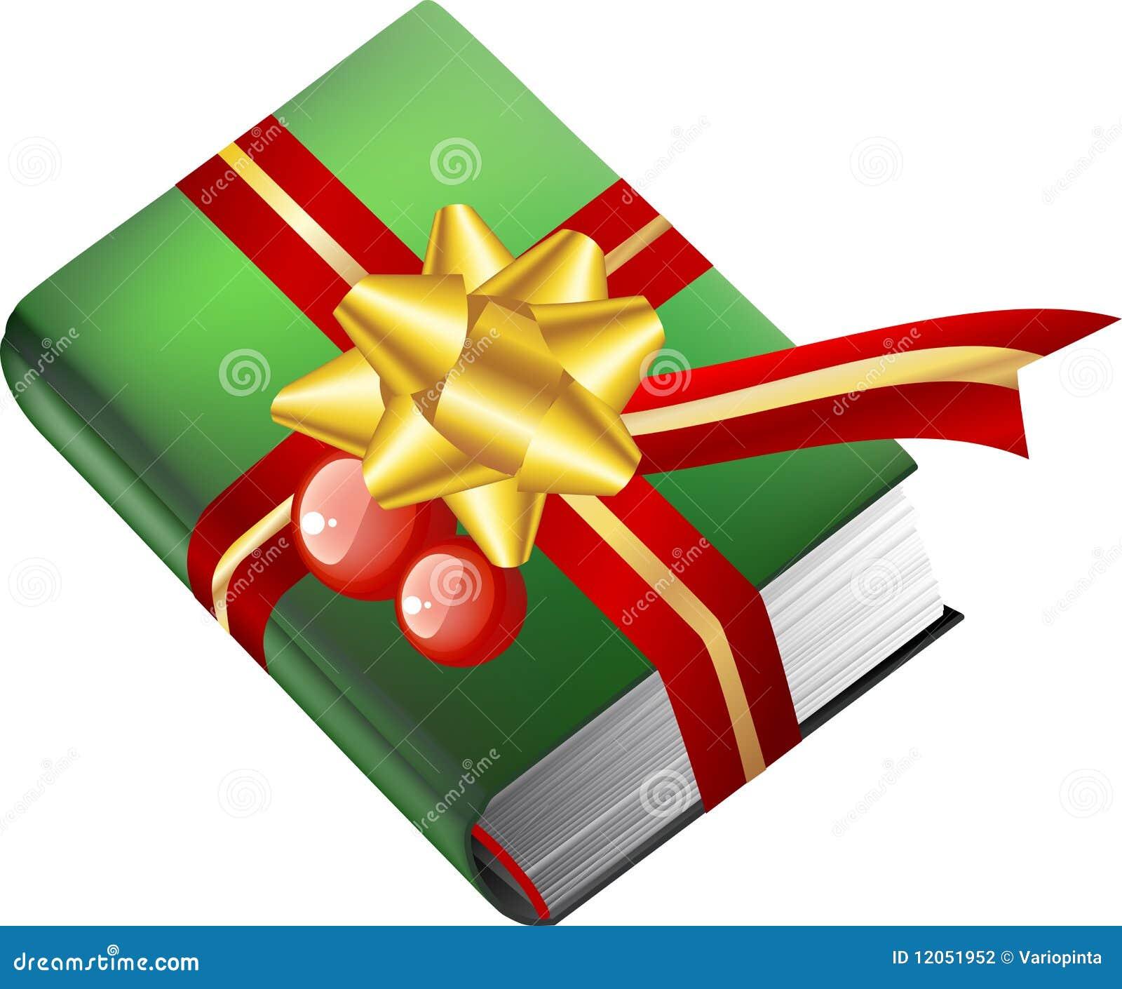 Buch Geschenk Weihnachten.Buchgeschenk Für Weihnachten Vektor Abbildung Illustration Von