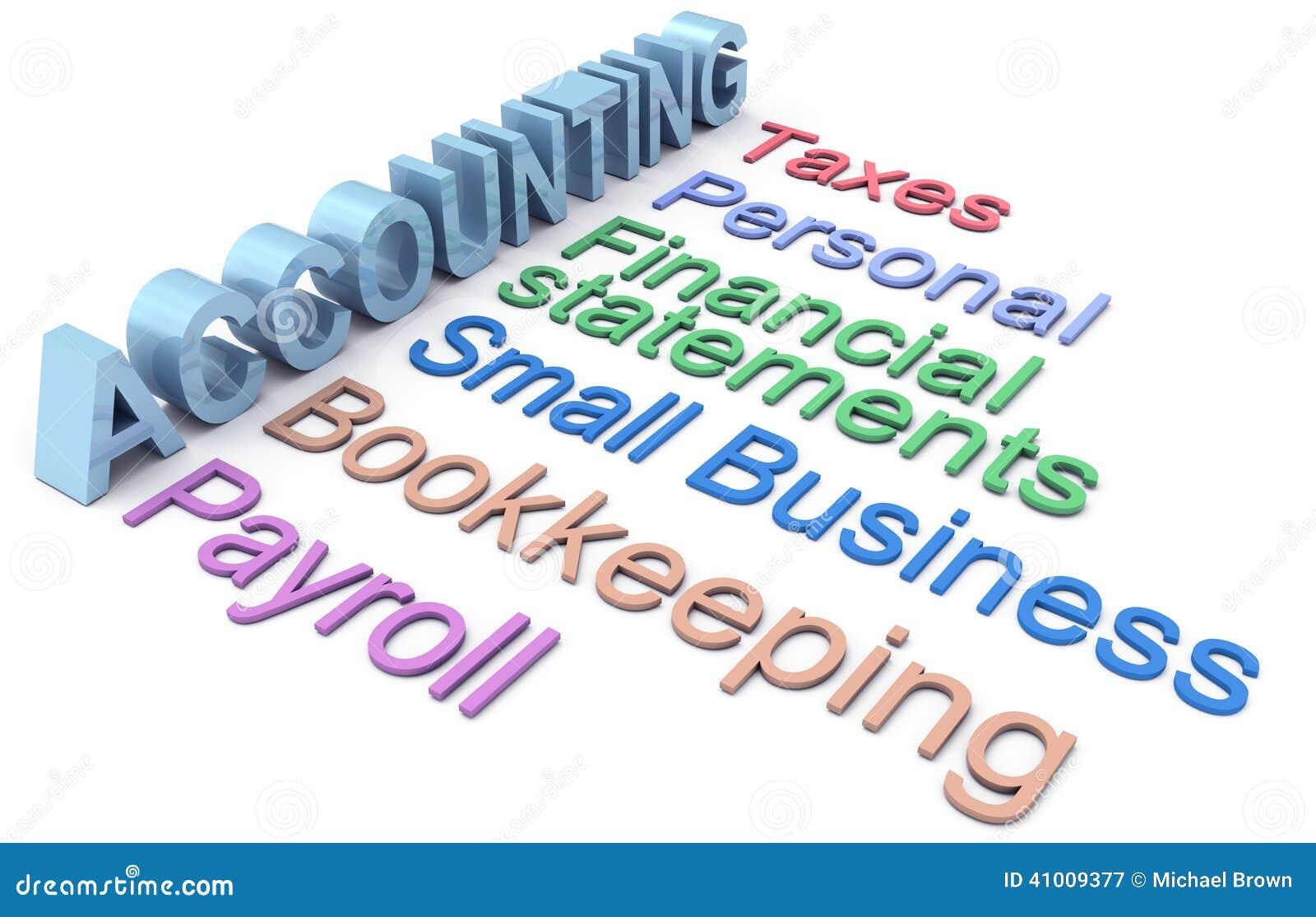 Buchhaltungssteuergehaltsabrechnungsmeldewörter