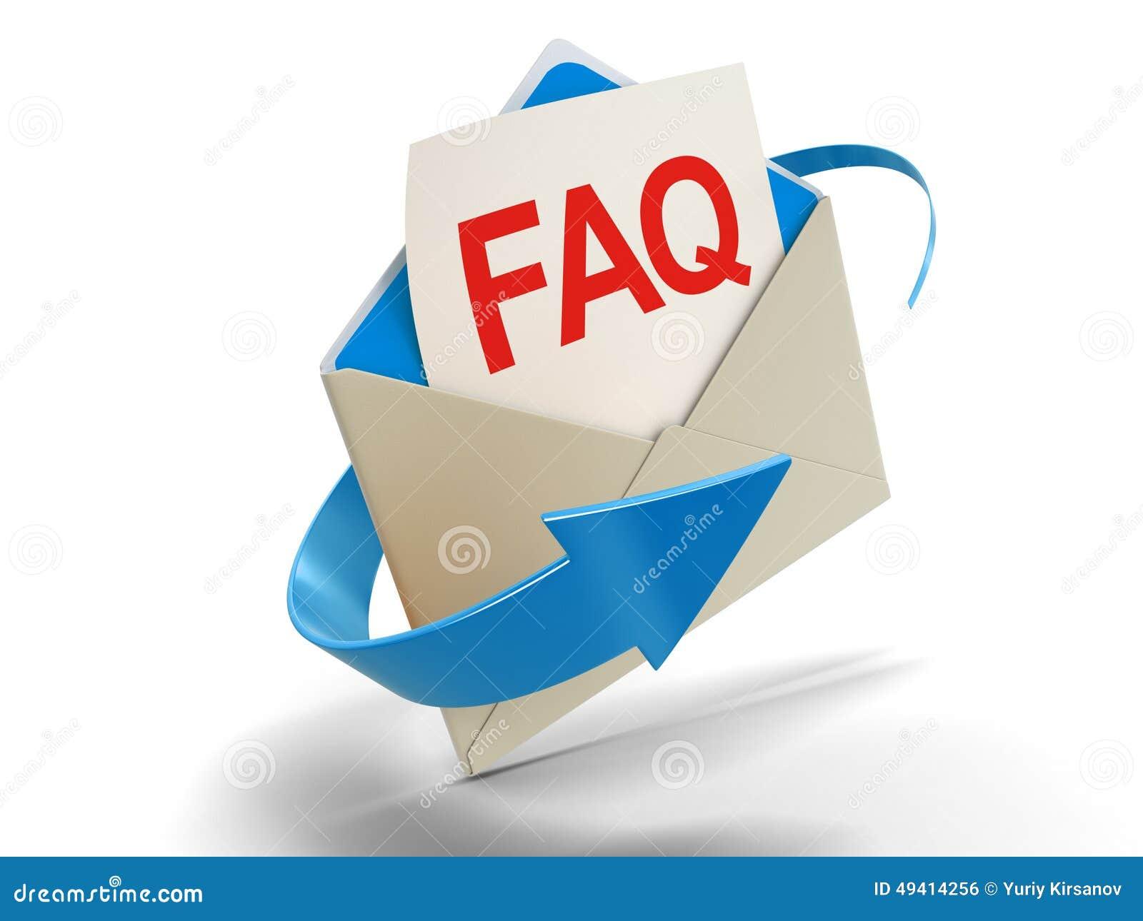 Download Buchstabe FAQ (Beschneidungspfad Eingeschlossen) Stock Abbildung - Illustration von render, probleme: 49414256