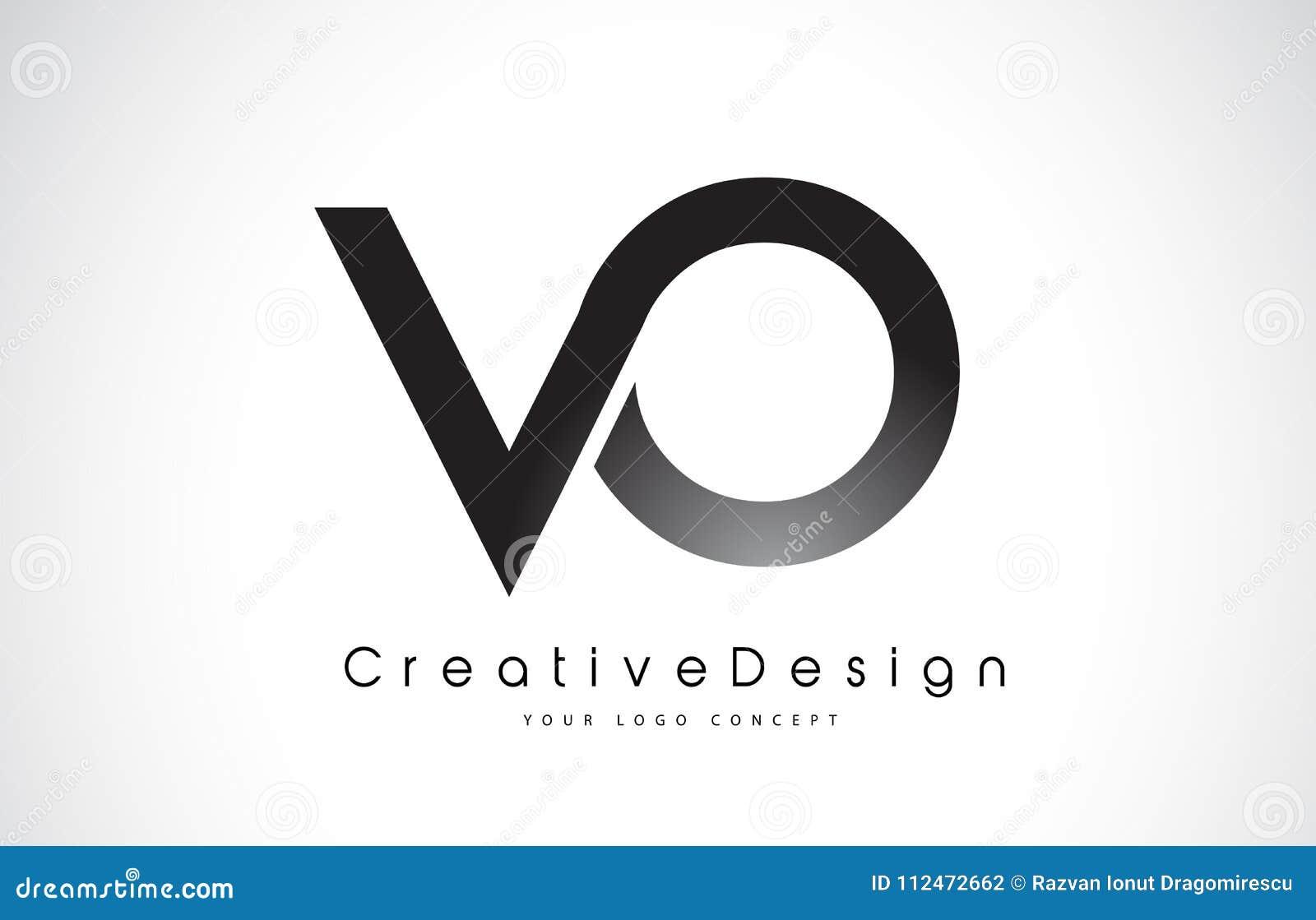 Buchstabe Logo Design Vl V O Kreative Ikonen Moderner Buchstabe