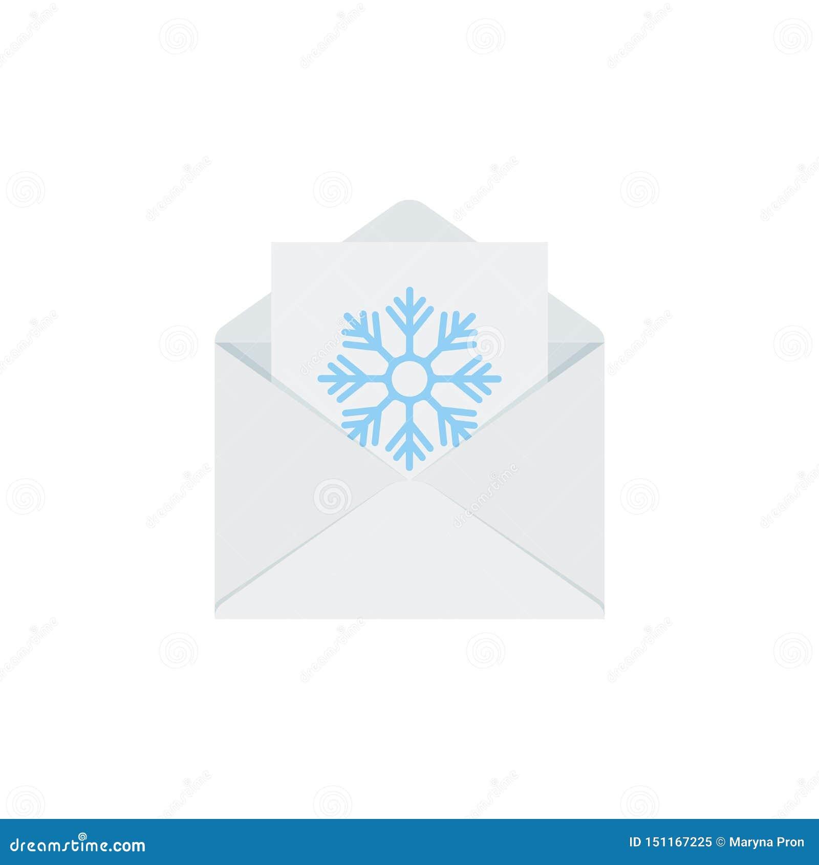 Buchstabe zu Sankt im Umschlag Getrennt auf wei?em Hintergrund Vektorillustration im flachen Design