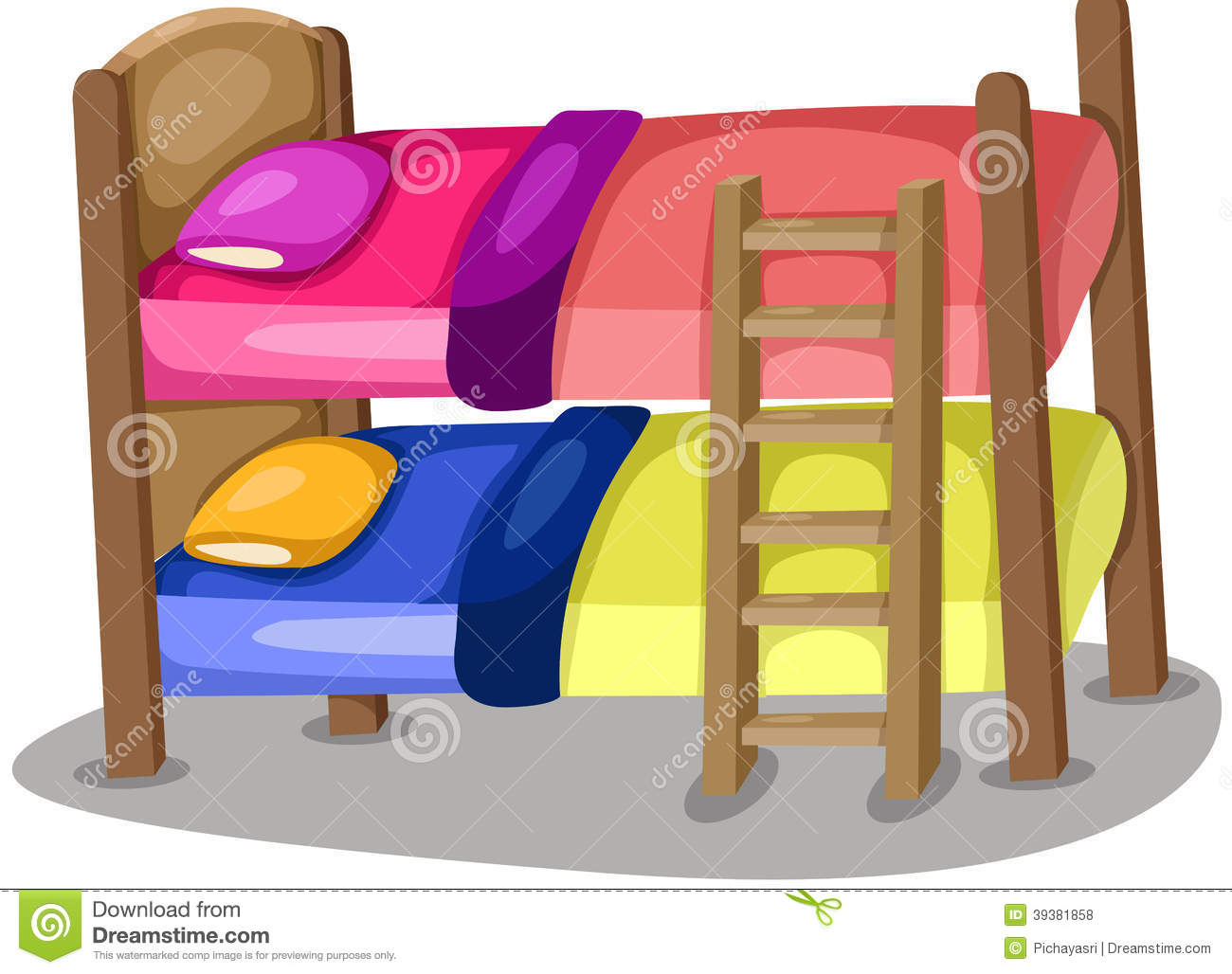 Buck Beds Stock Vector Illustration Of House Cover