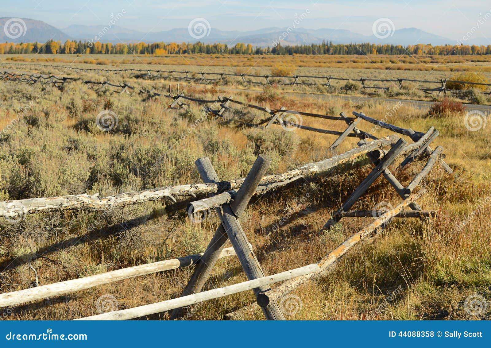 Buck fence stock photo image of fencing horizontal