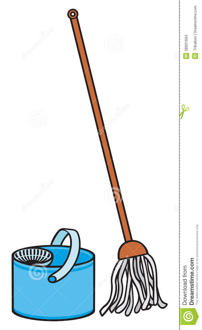 Bucket And Cleaning Mop Stock Vector - Image: 38901694