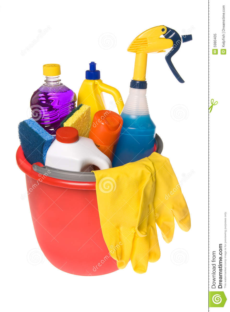 Bucket Of Cleaning Supplies Royalty Free Stock Photo Image 5980405