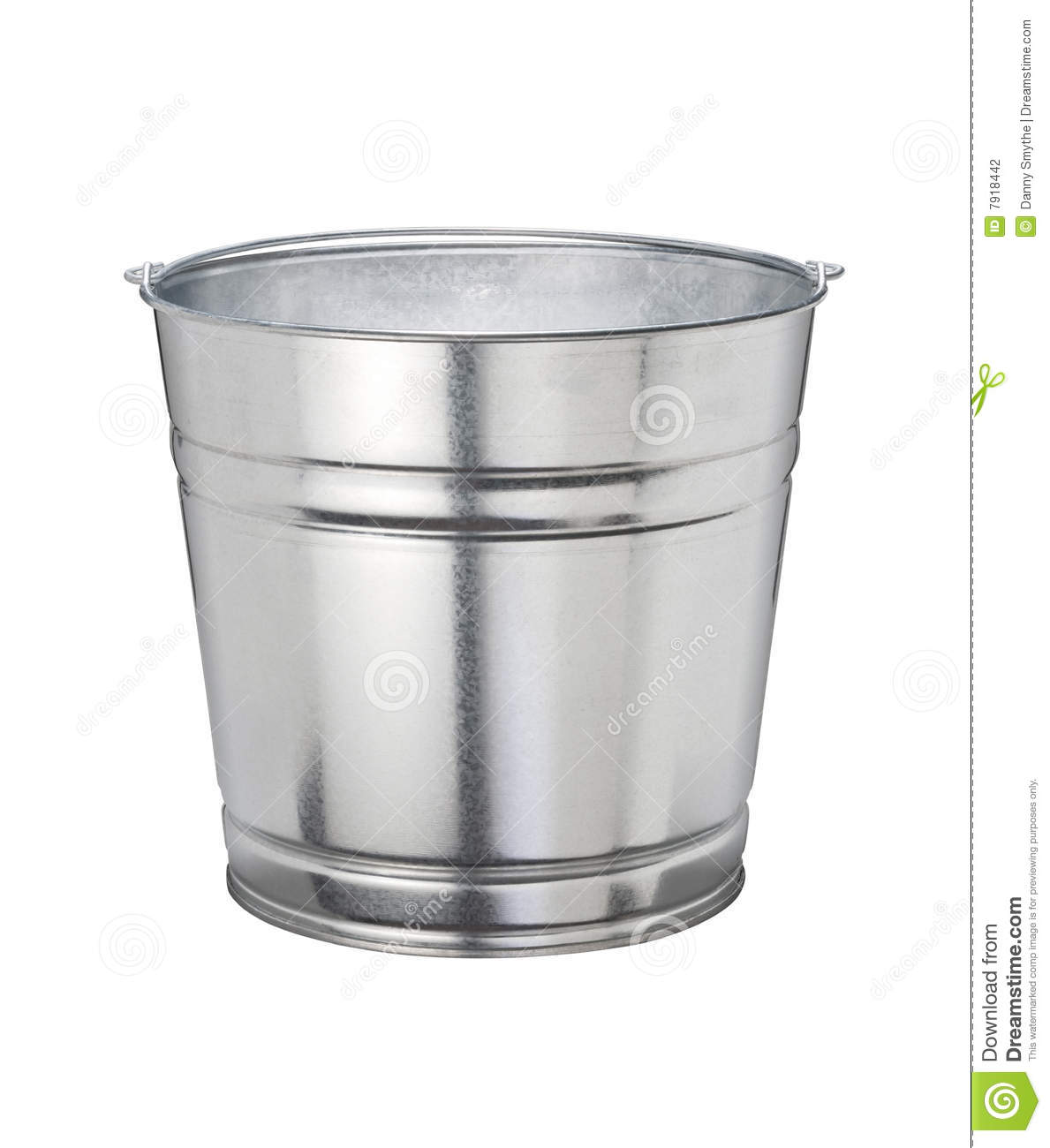Bucket With Clipping Path Stock Photo Image Of Shiny