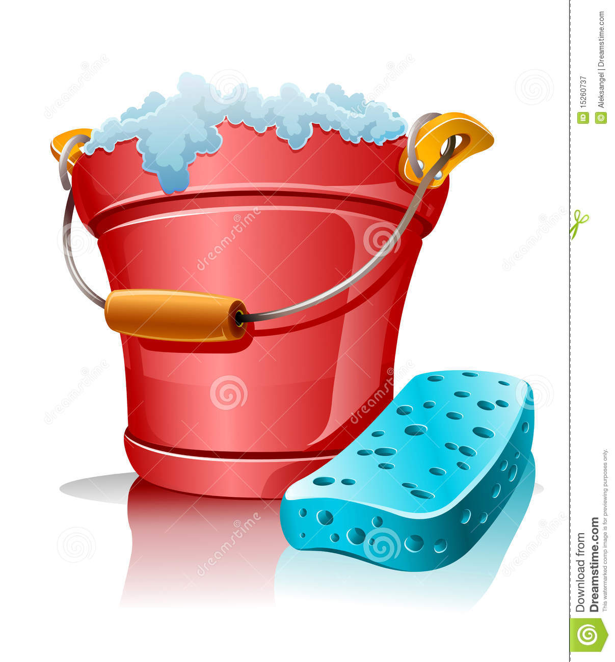Bucket With Foam And Bath Sponge Royalty Free Stock Photography ...