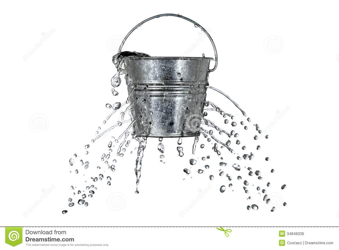 Bucket With Holes Royalty Free Stock Image  Image: 34846036