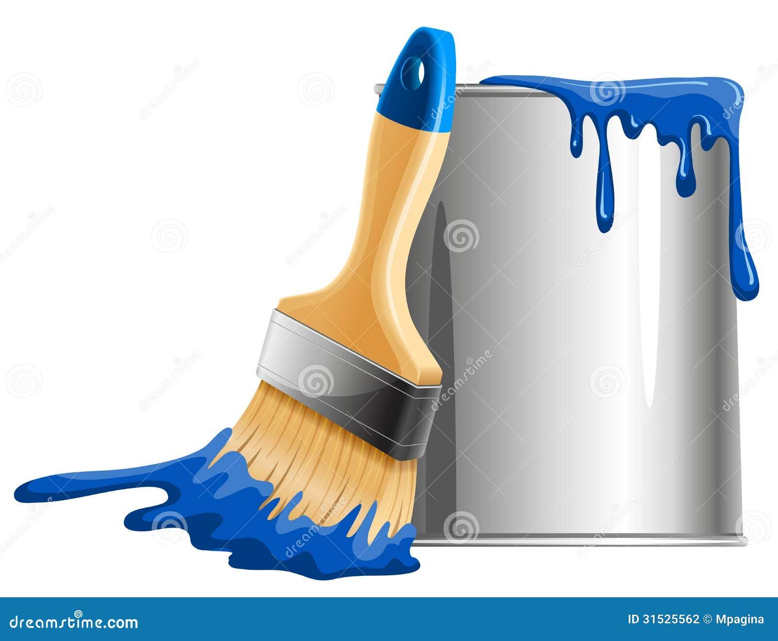 paint bucket and brush - photo #39