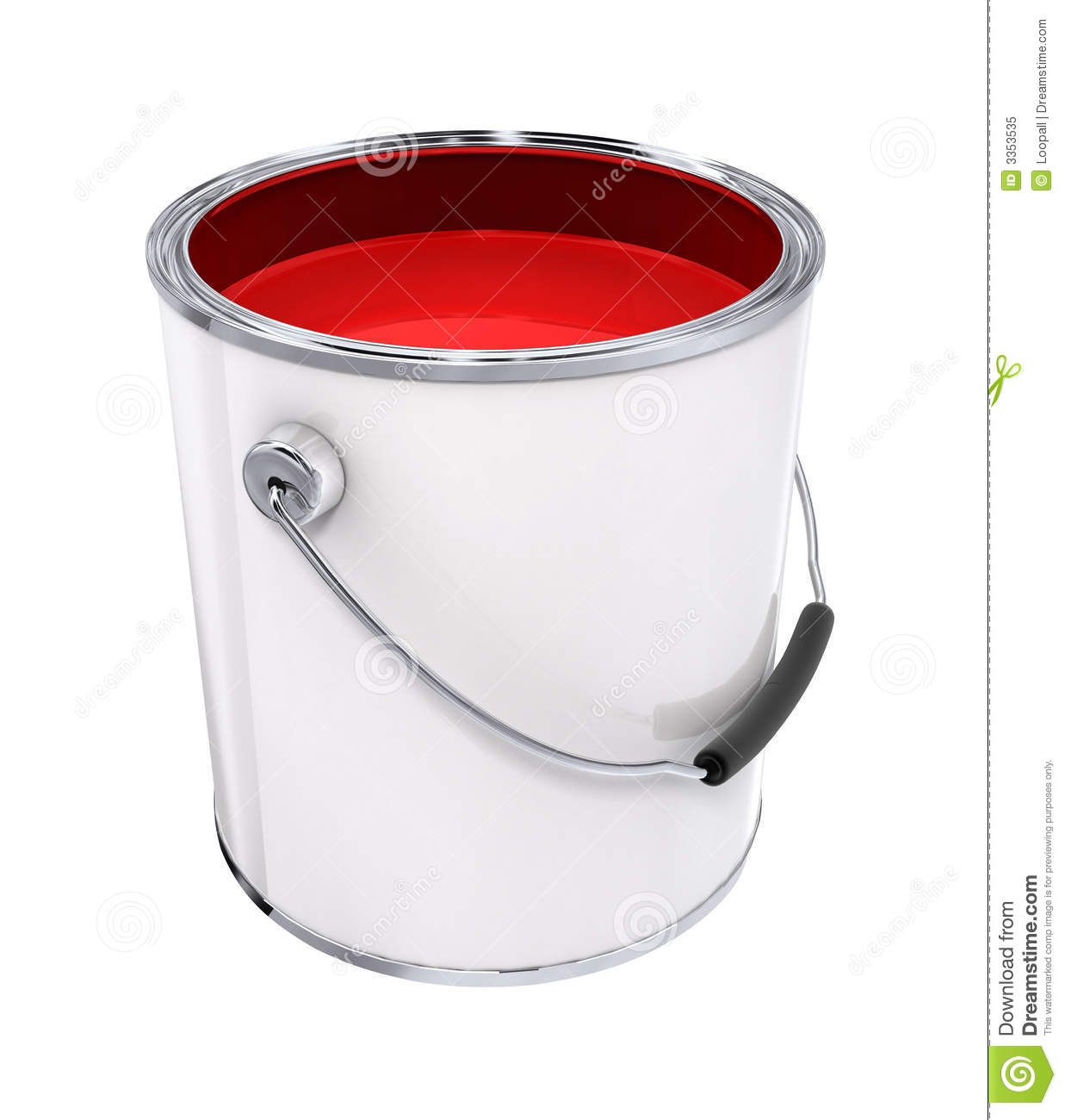 Bucket With Red Paint Royalty Free Stock Photo  Image: 3353535