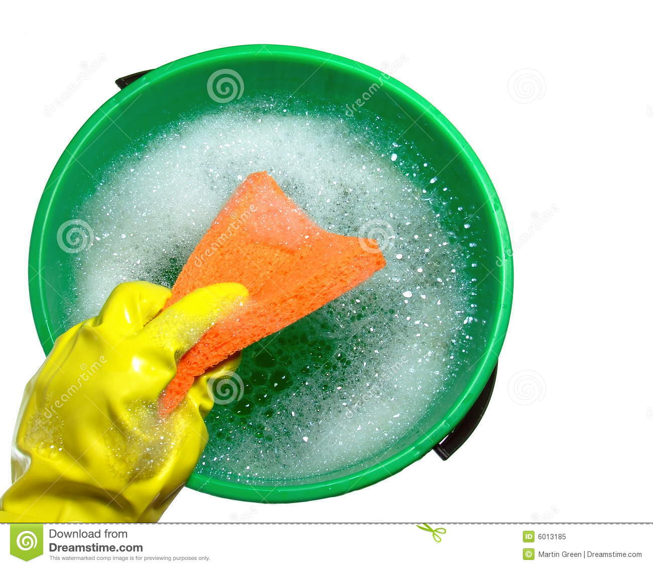 Bucket Of Soapy Water Stock Image Image Of House Foaming